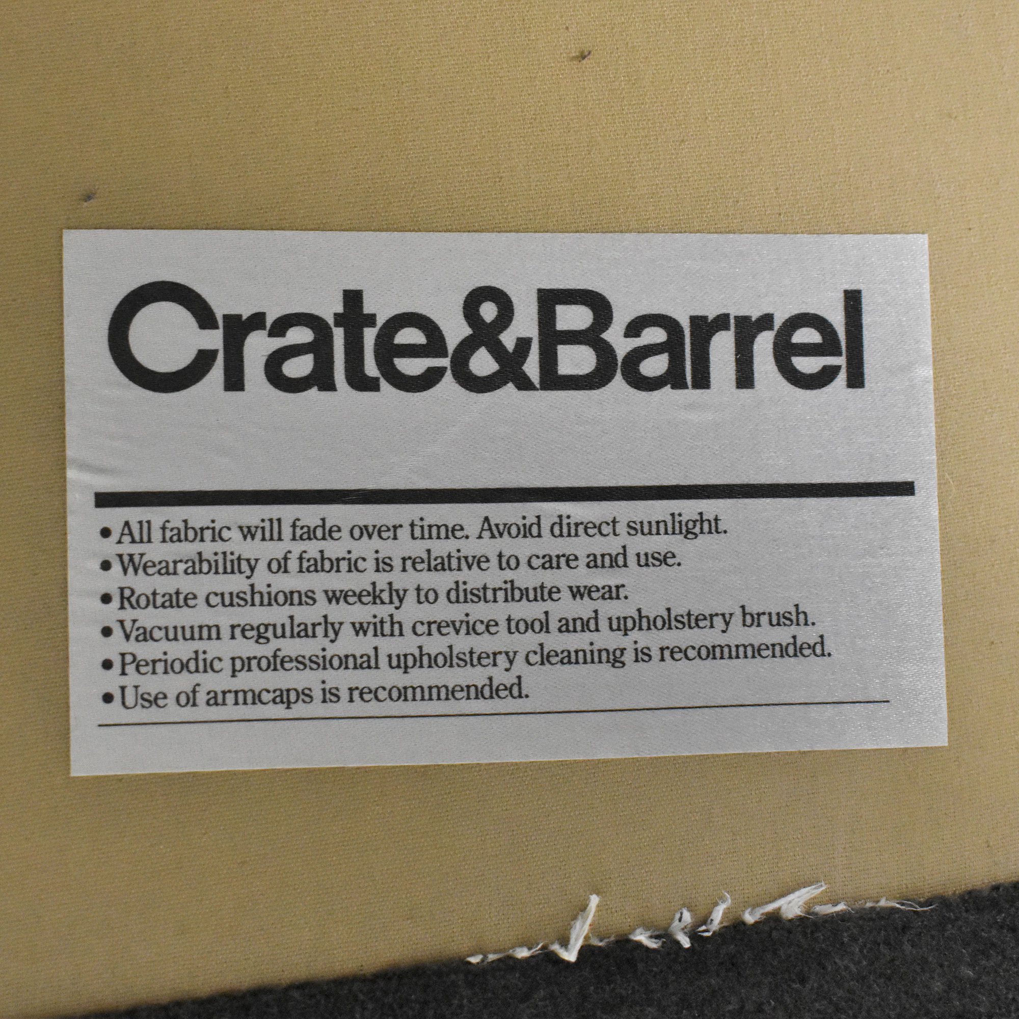 Crate & Barrel Chaise Lounge / Sofas