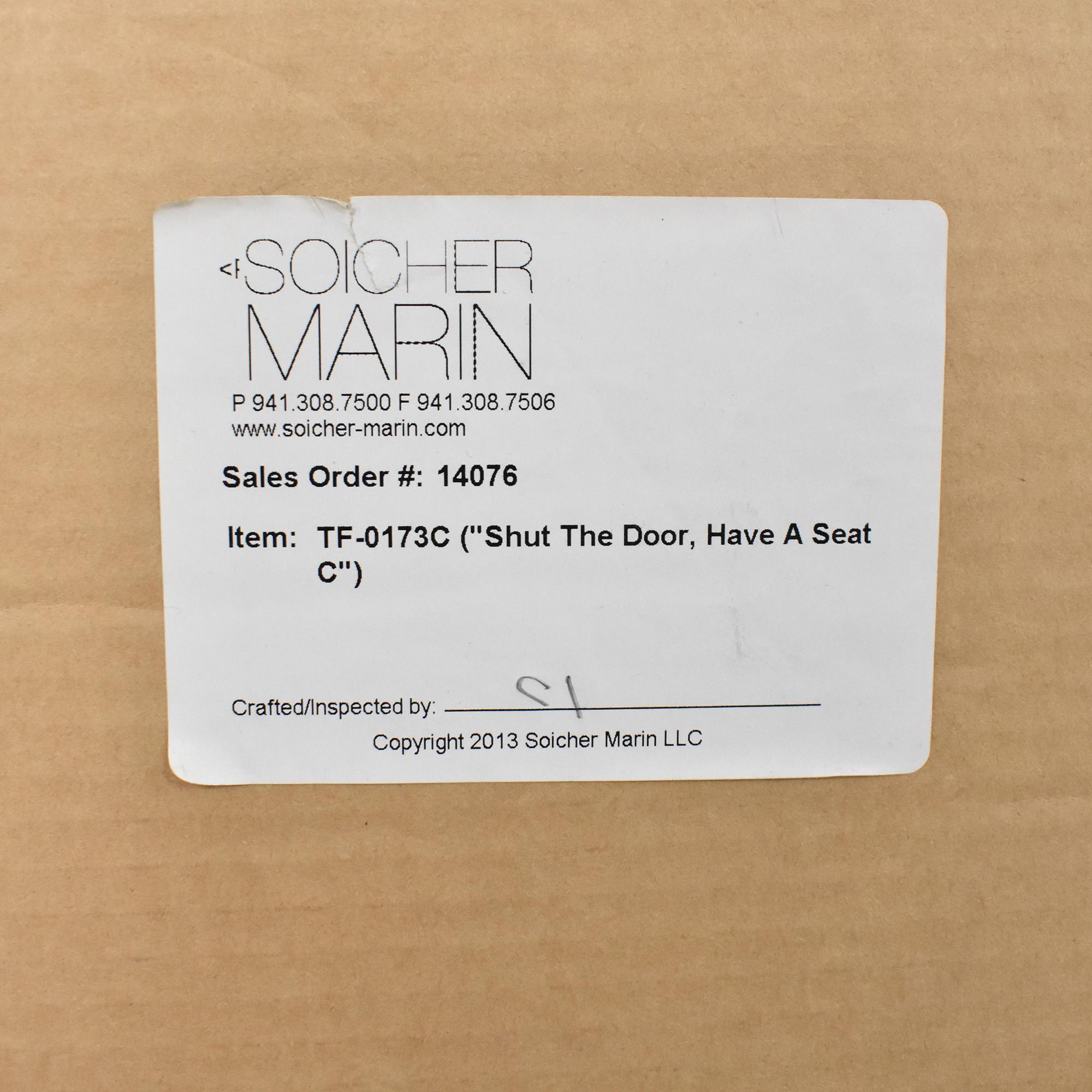 Soicher Marin Shut the Door, Have a Seat Wall Art Series / Wall Art