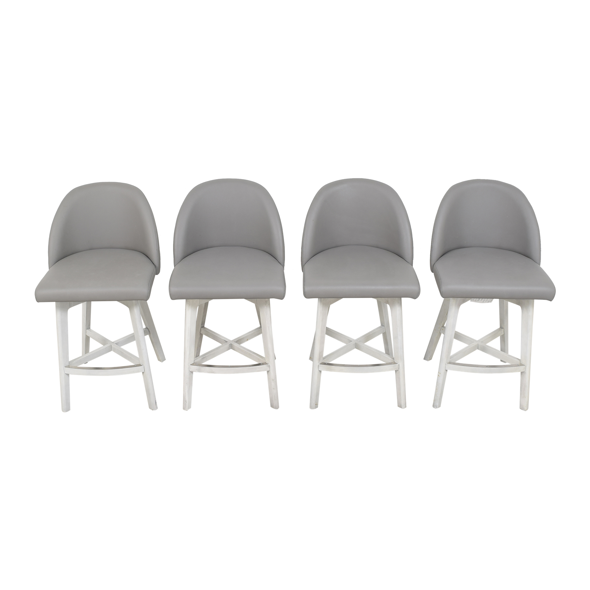 Canadel Canadel Downtown Counter Stools light gray and white