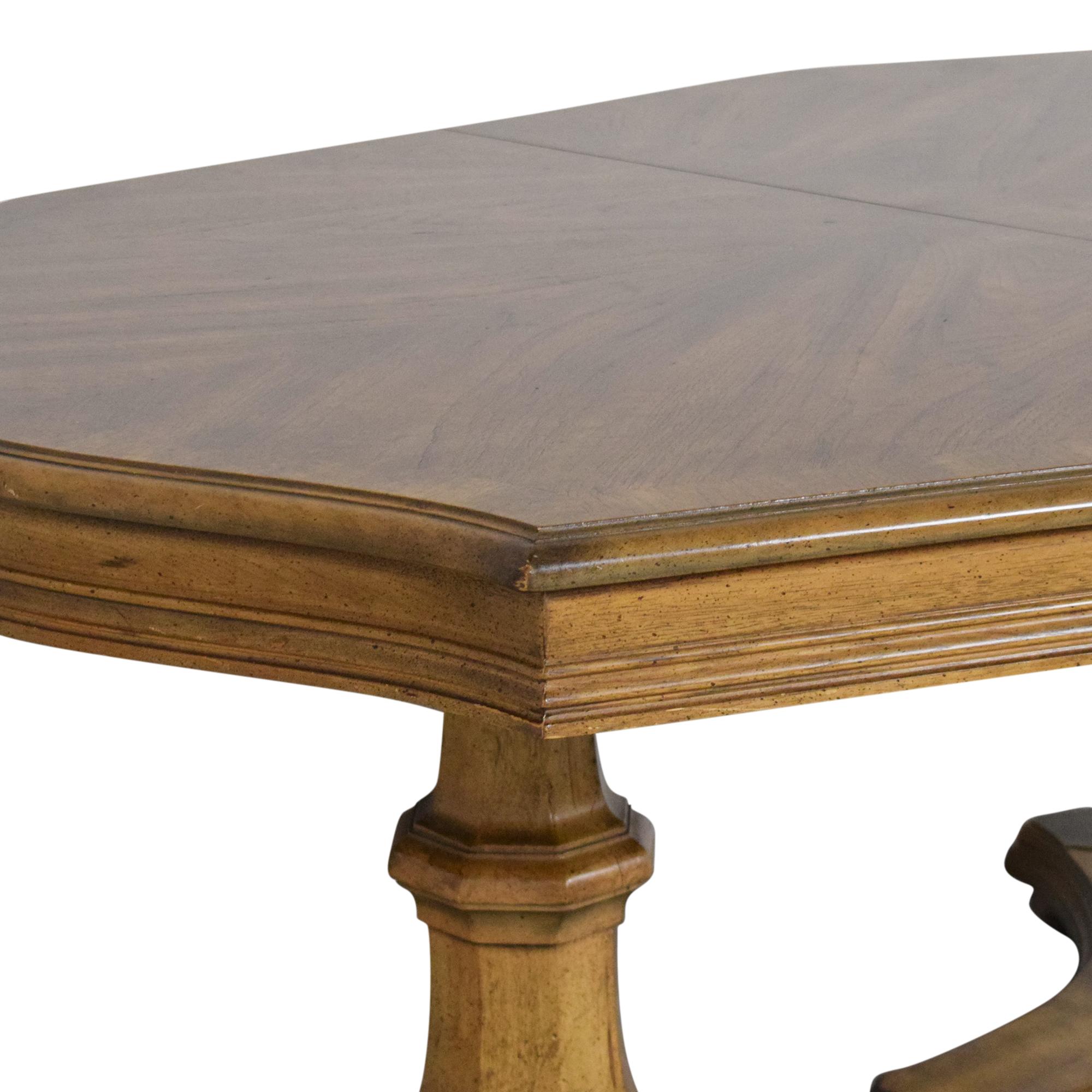 buy Trestle Pedestal Extendable Dining Table  Dinner Tables