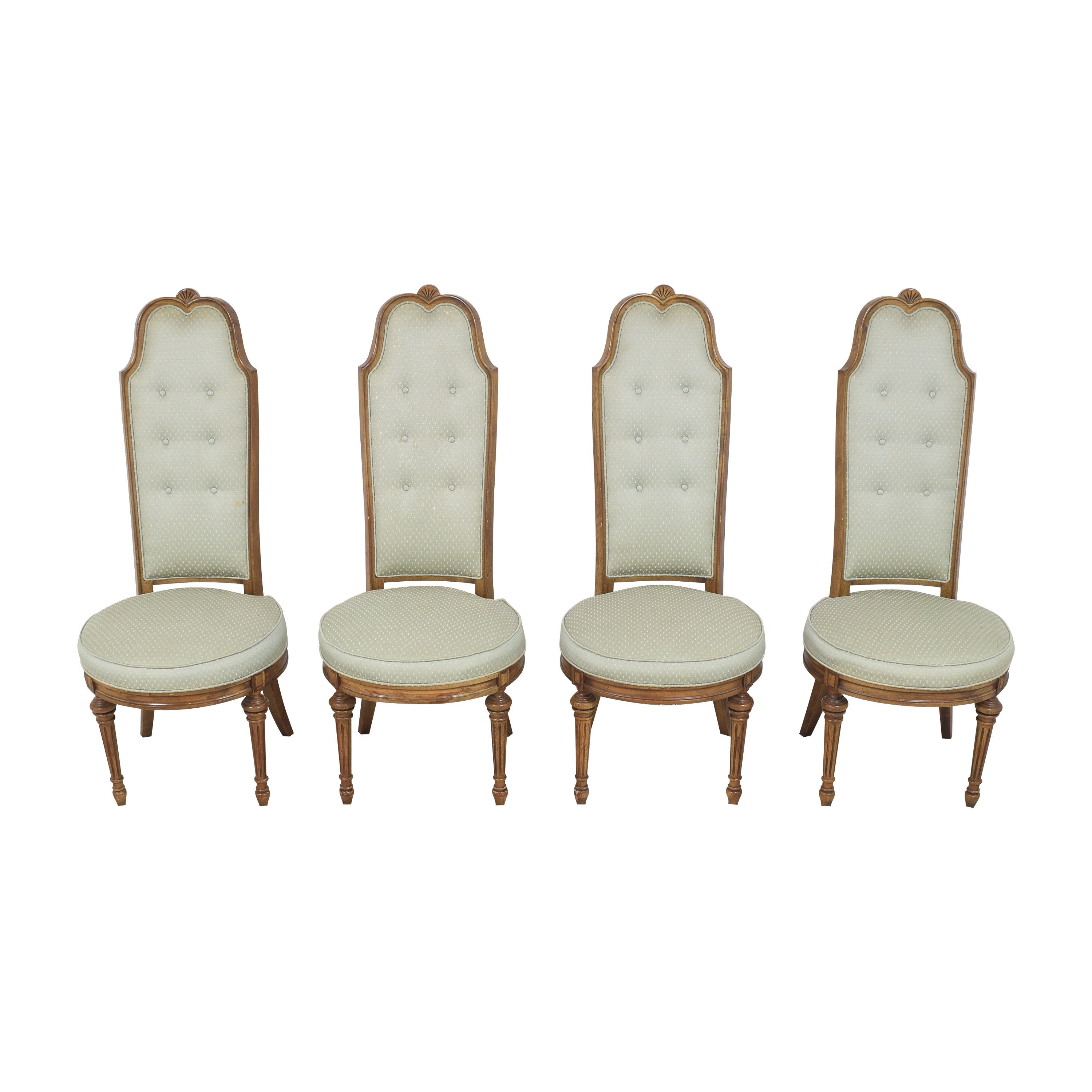 High Back Tufted Dining Chairs  ct
