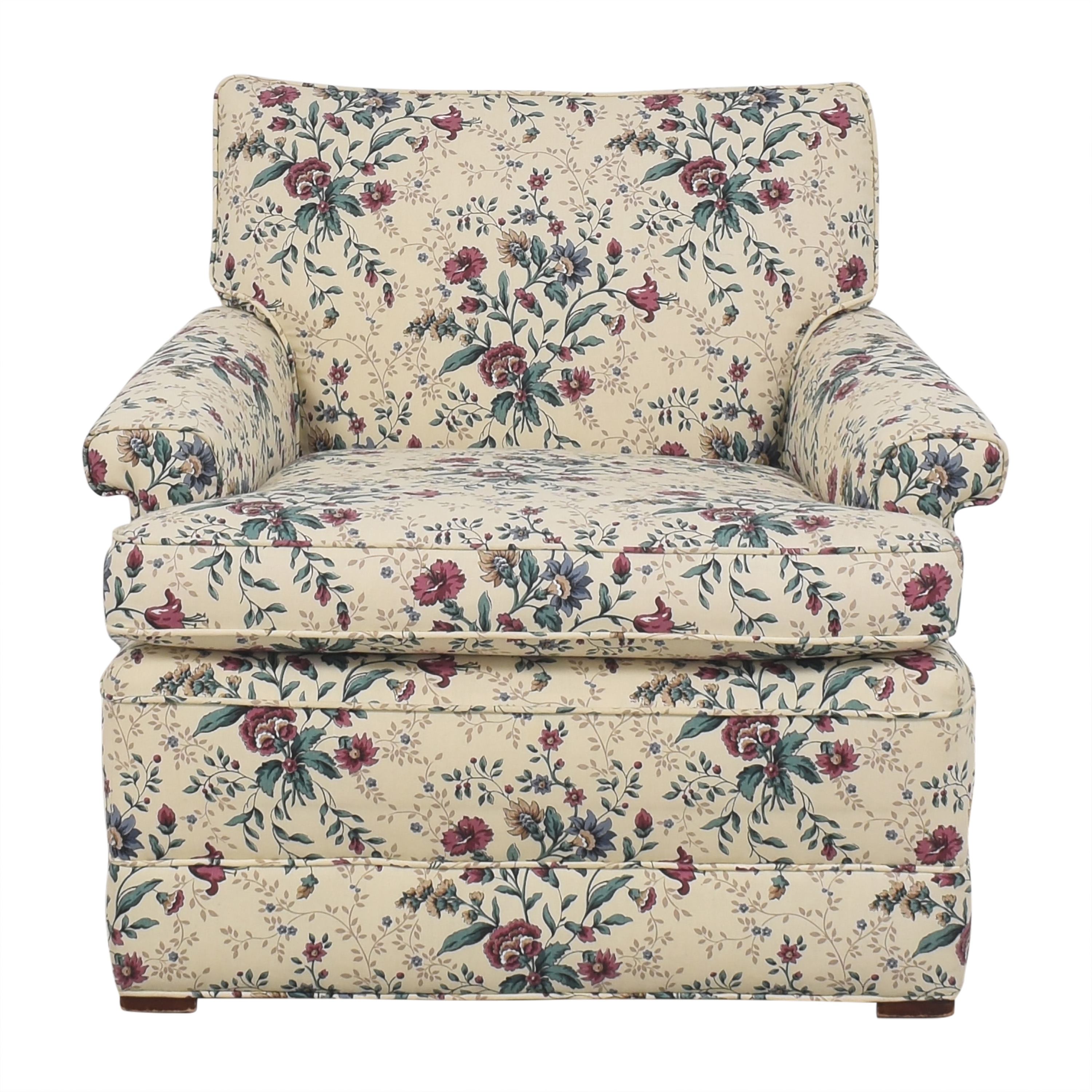Floral Accent Chair with Ottoman Accent Chairs