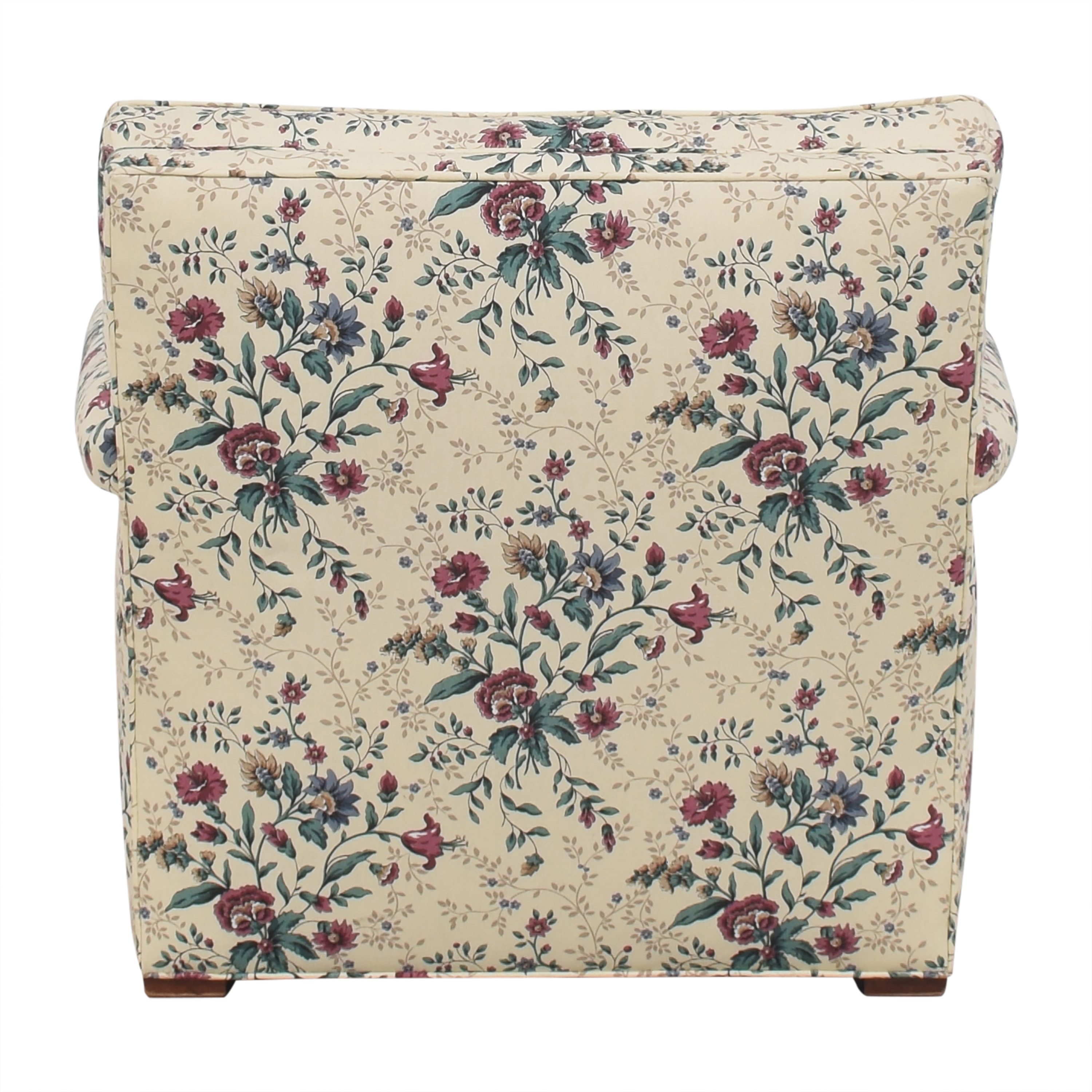 Floral Accent Chair with Ottoman