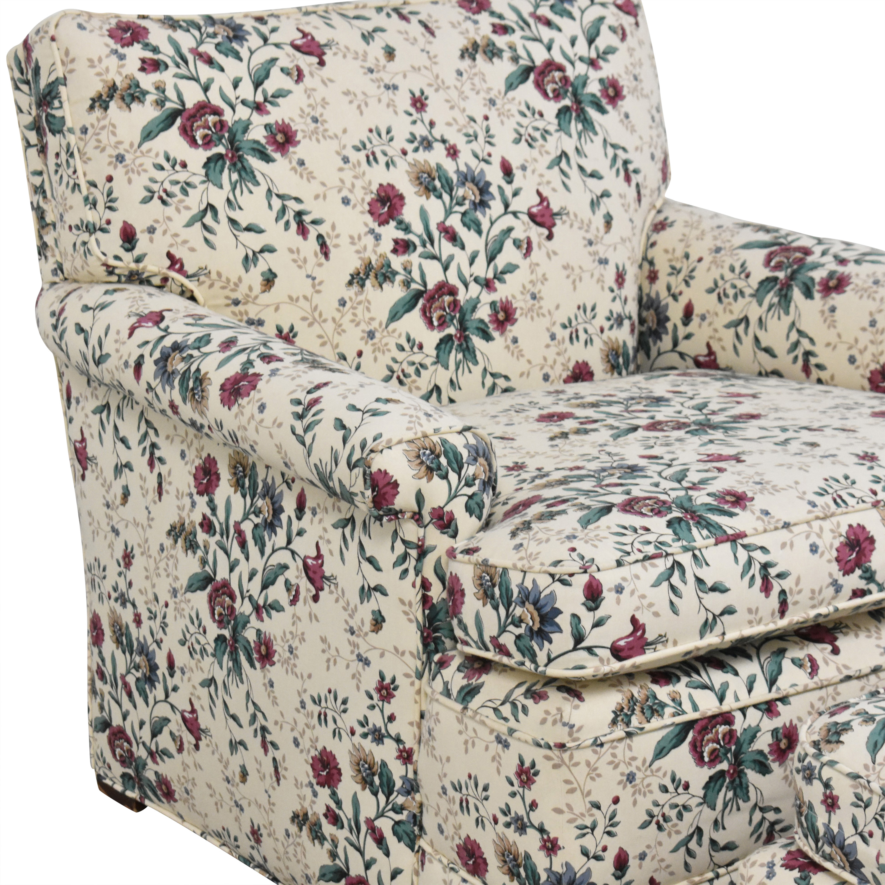 Floral Accent Chair with Ottoman discount