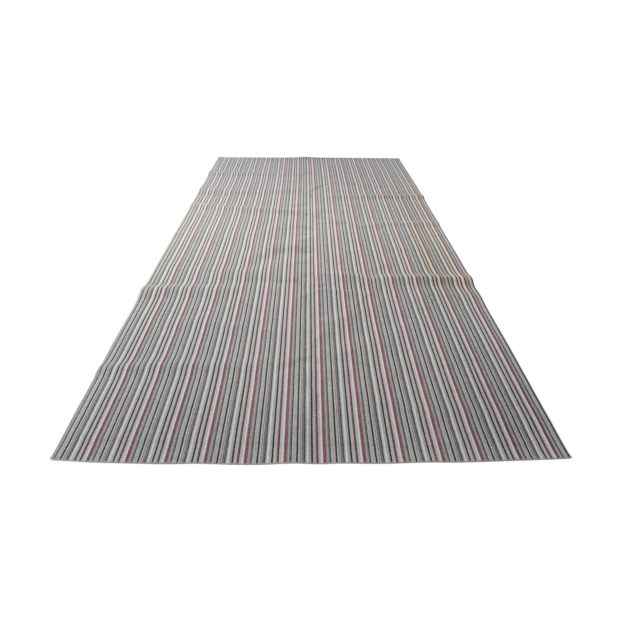 Striped Area Rug multi