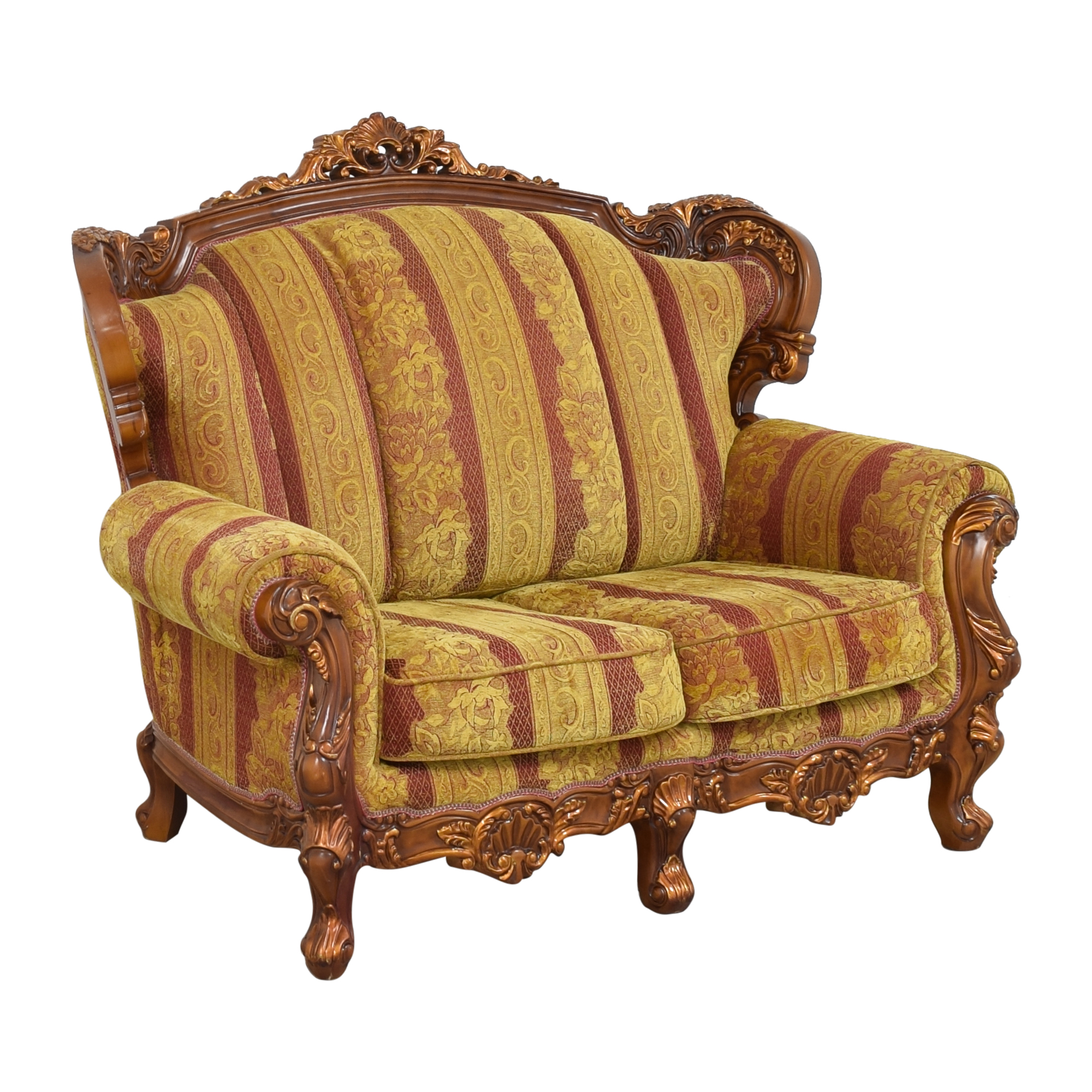 Ornate French-Style Loveseat Sofas