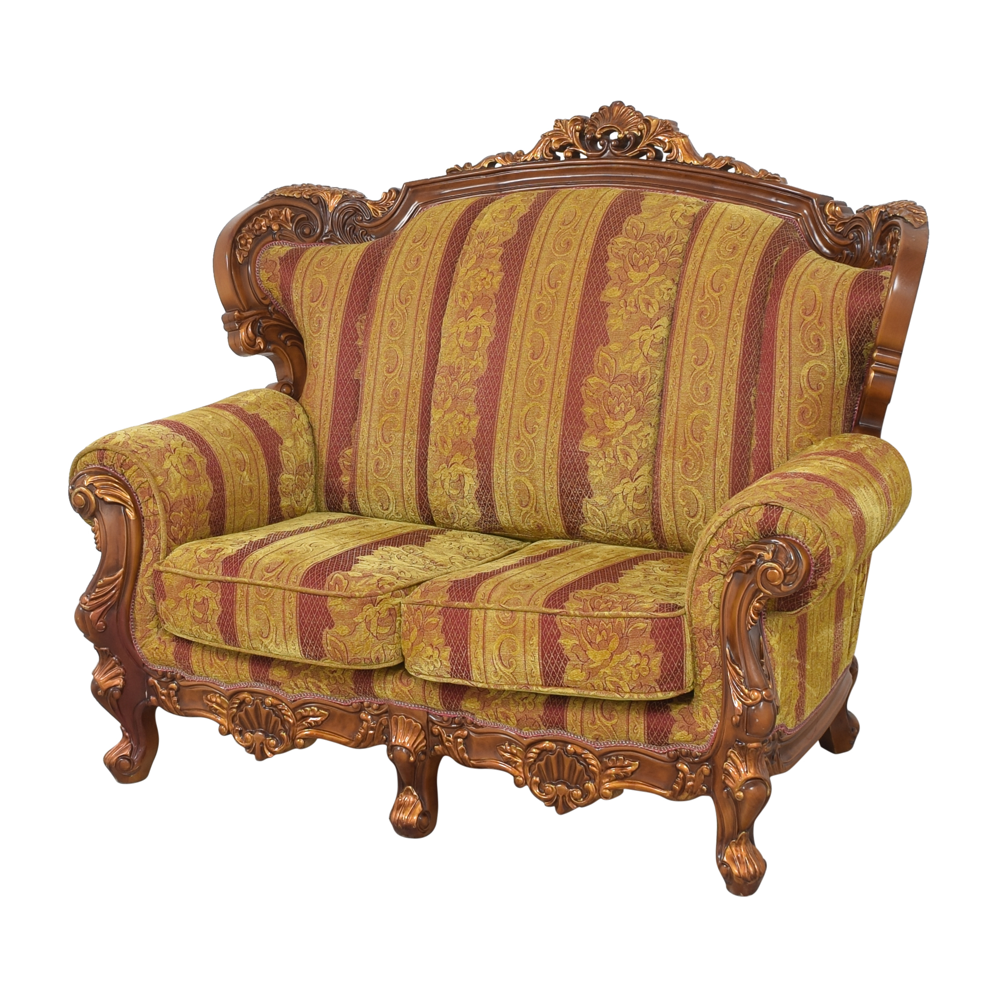 Ornate French-Style Loveseat dimensions