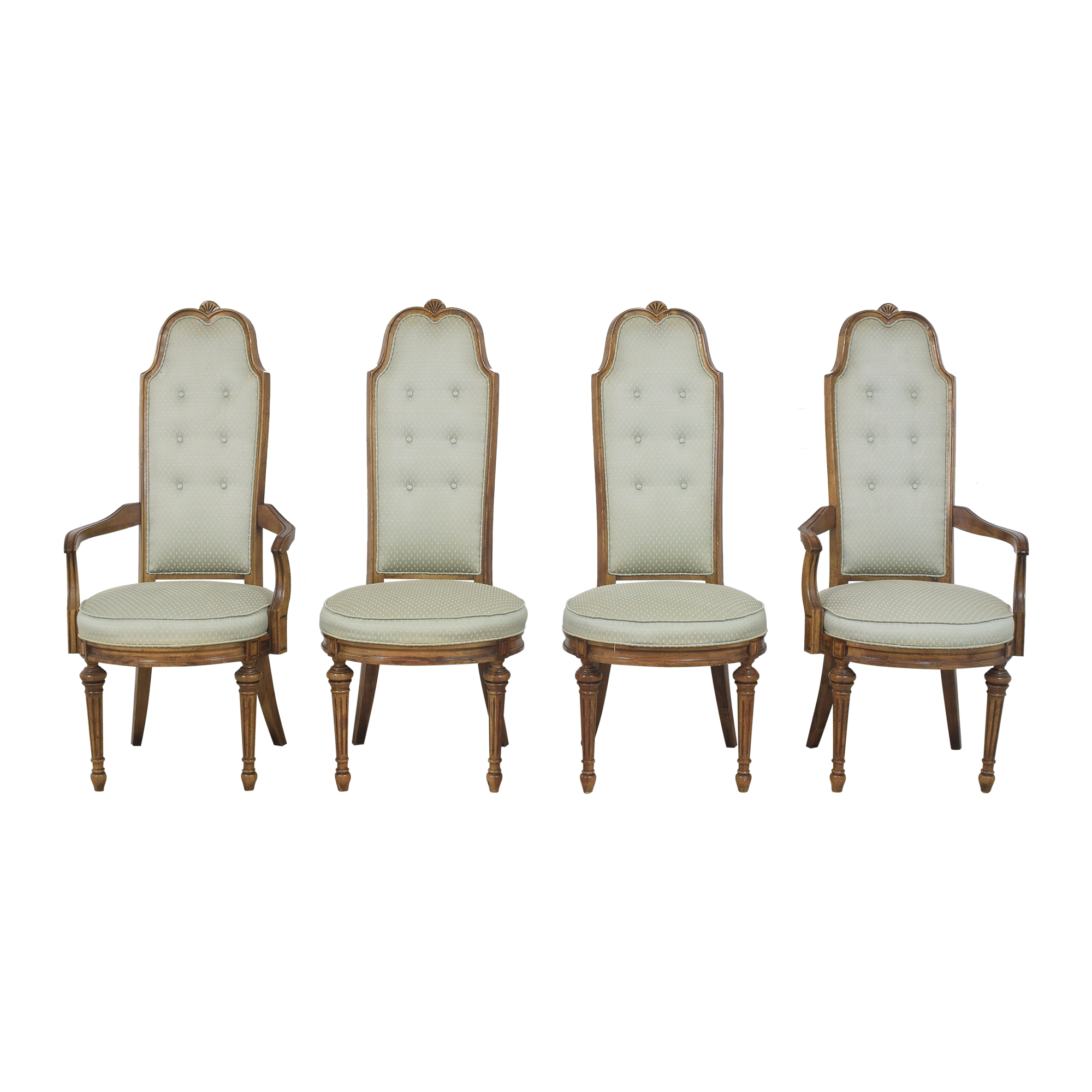 High Back Tufted Dining Chairs  nyc