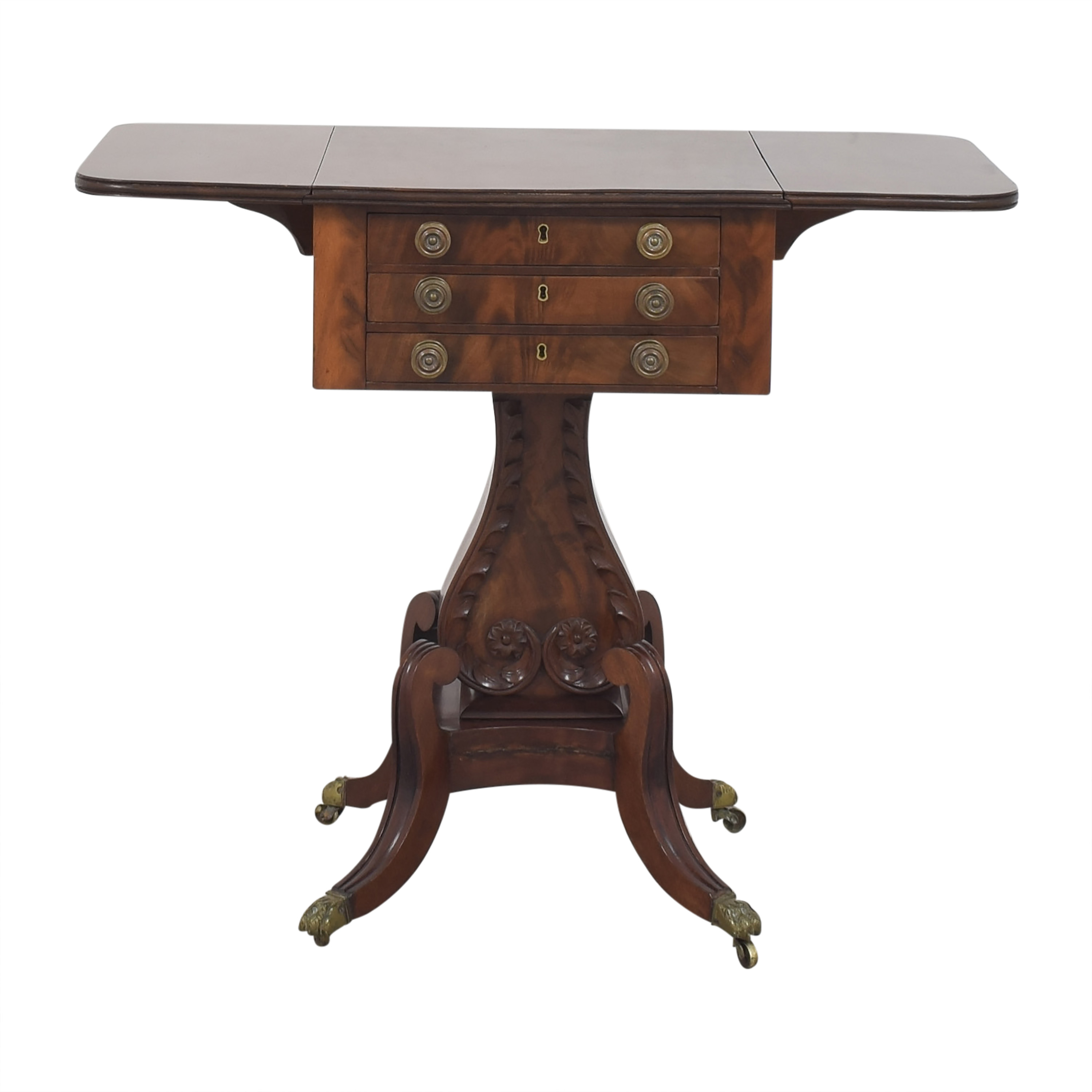 Duncan Phyfe-Style Lyre Base Writing Stand ma
