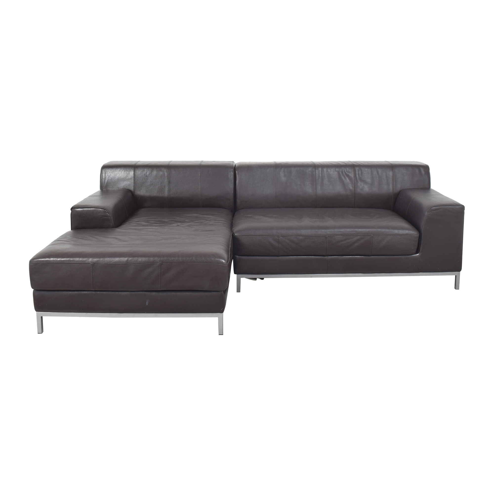 IKEA Two Piece Chaise Sectional Sofa sale