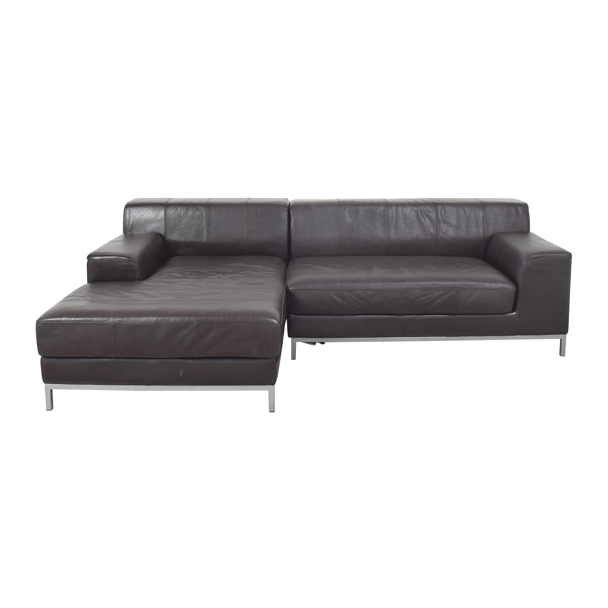 buy IKEA Two Piece Chaise Sectional Sofa IKEA