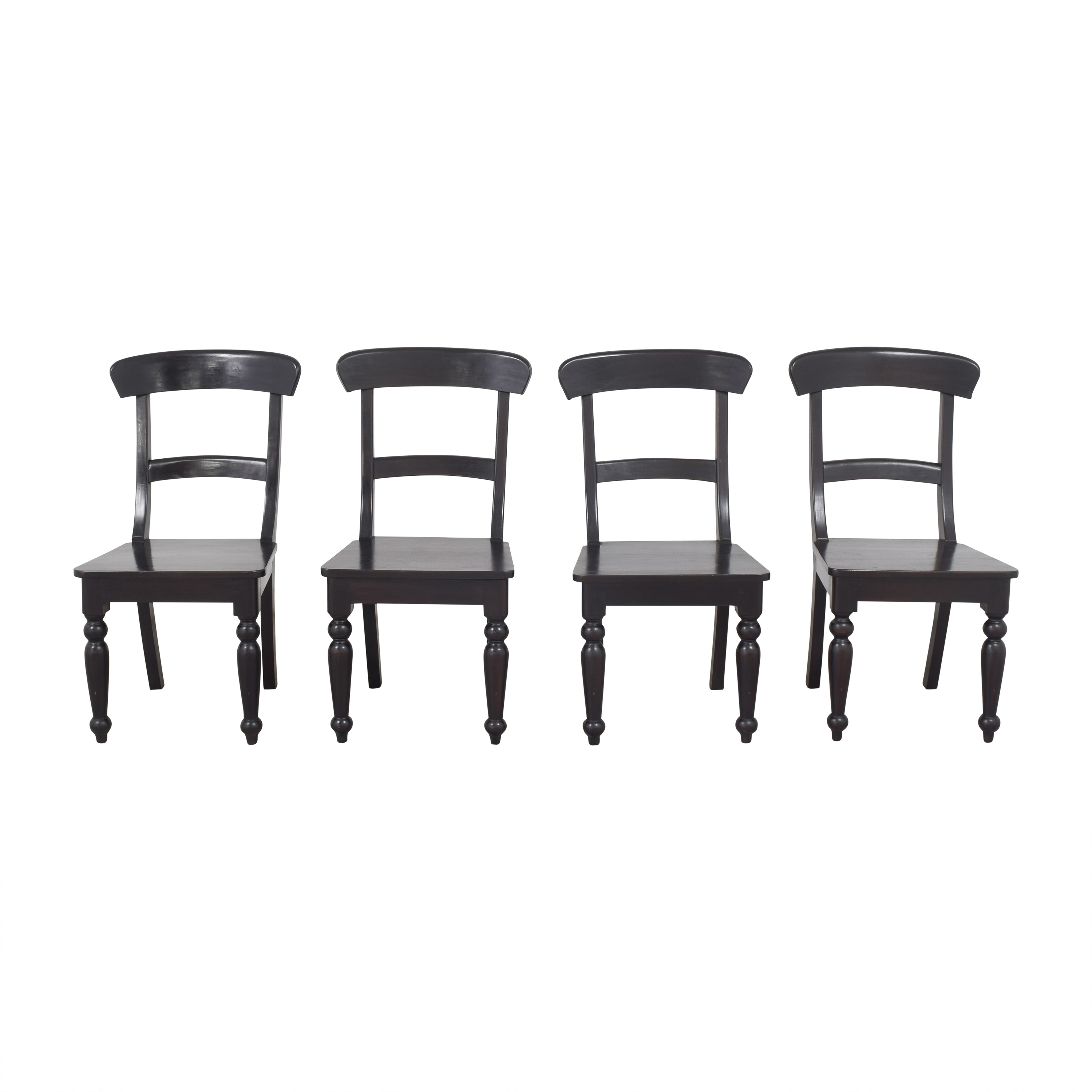 Crate & Barrel Crate & Barrel Dining Side Chairs dark brown