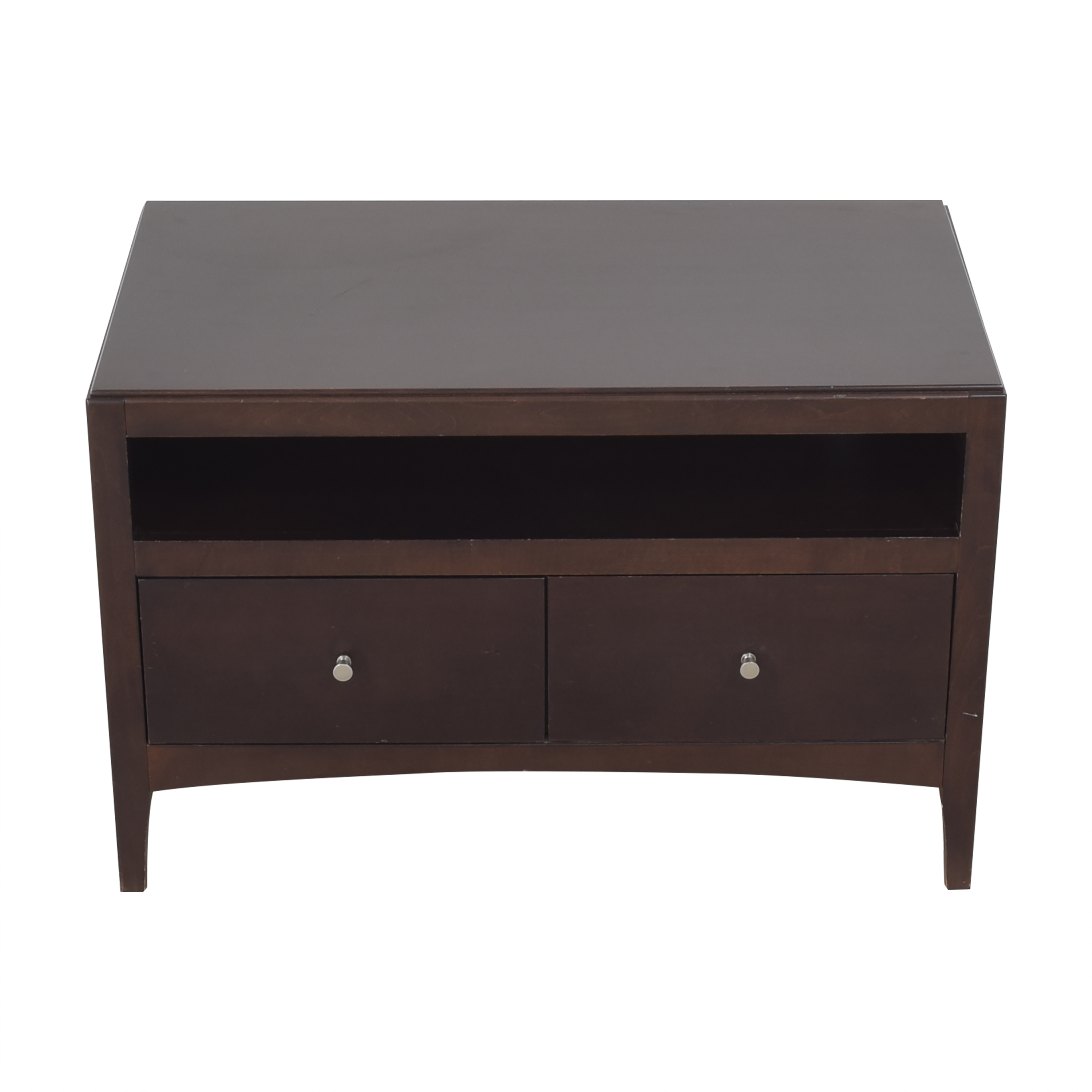 Two Drawer Media Console used