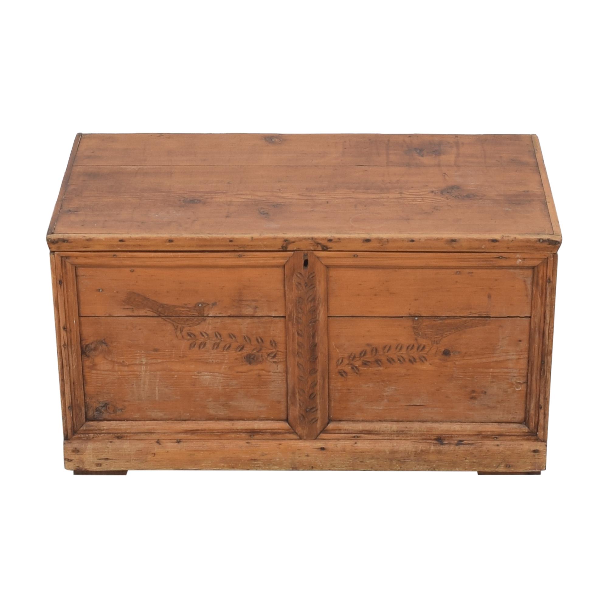 Antique Storage Trunk brown
