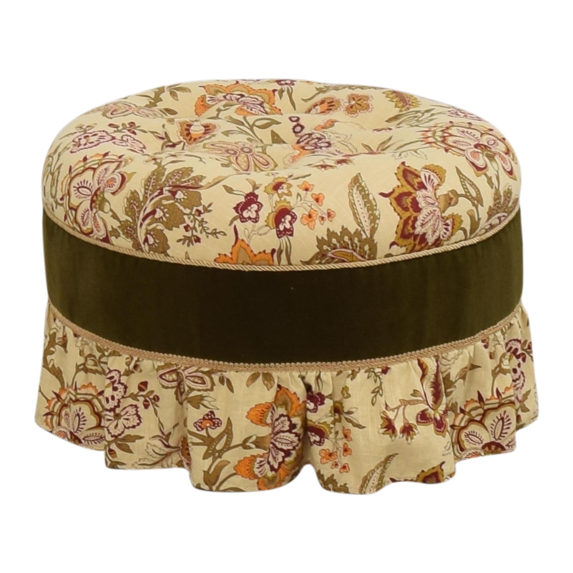 Skirted Round Ottoman