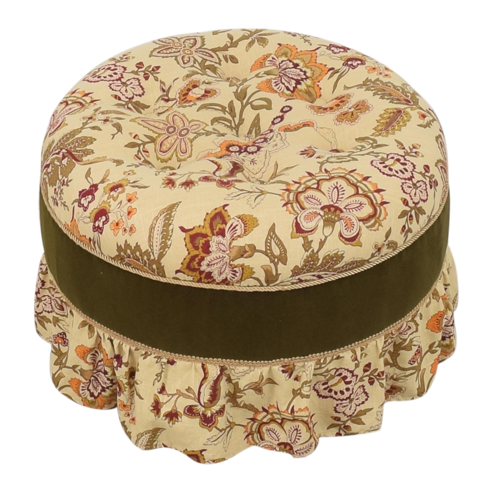 shop  Skirted Round Ottoman online