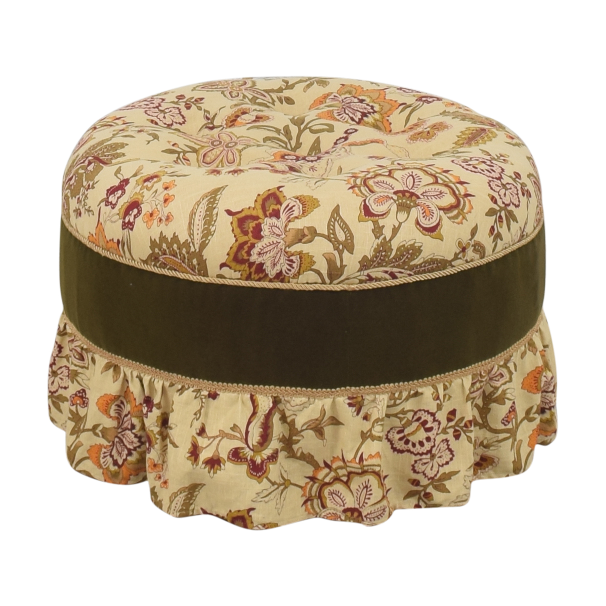 Skirted Round Ottoman second hand