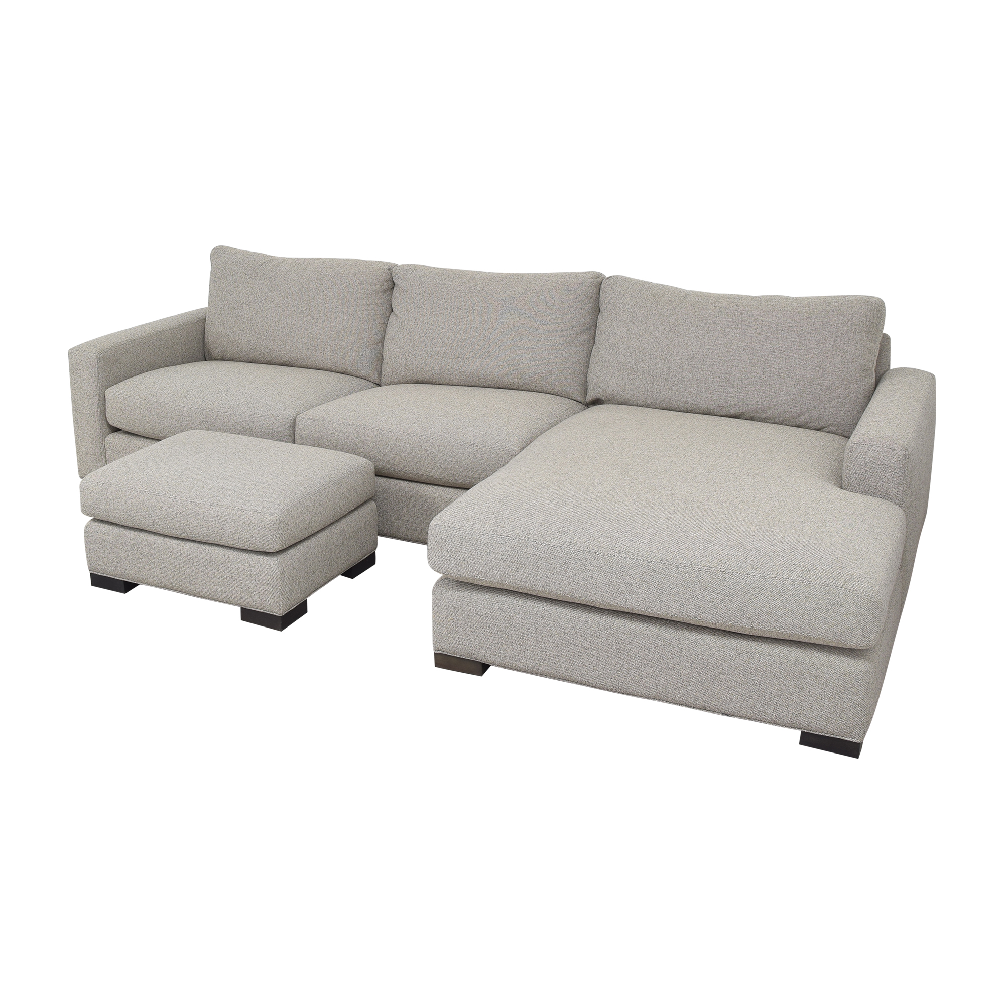 shop Room & Board Metro Chaise Sectional Sofa and Ottoman Room & Board
