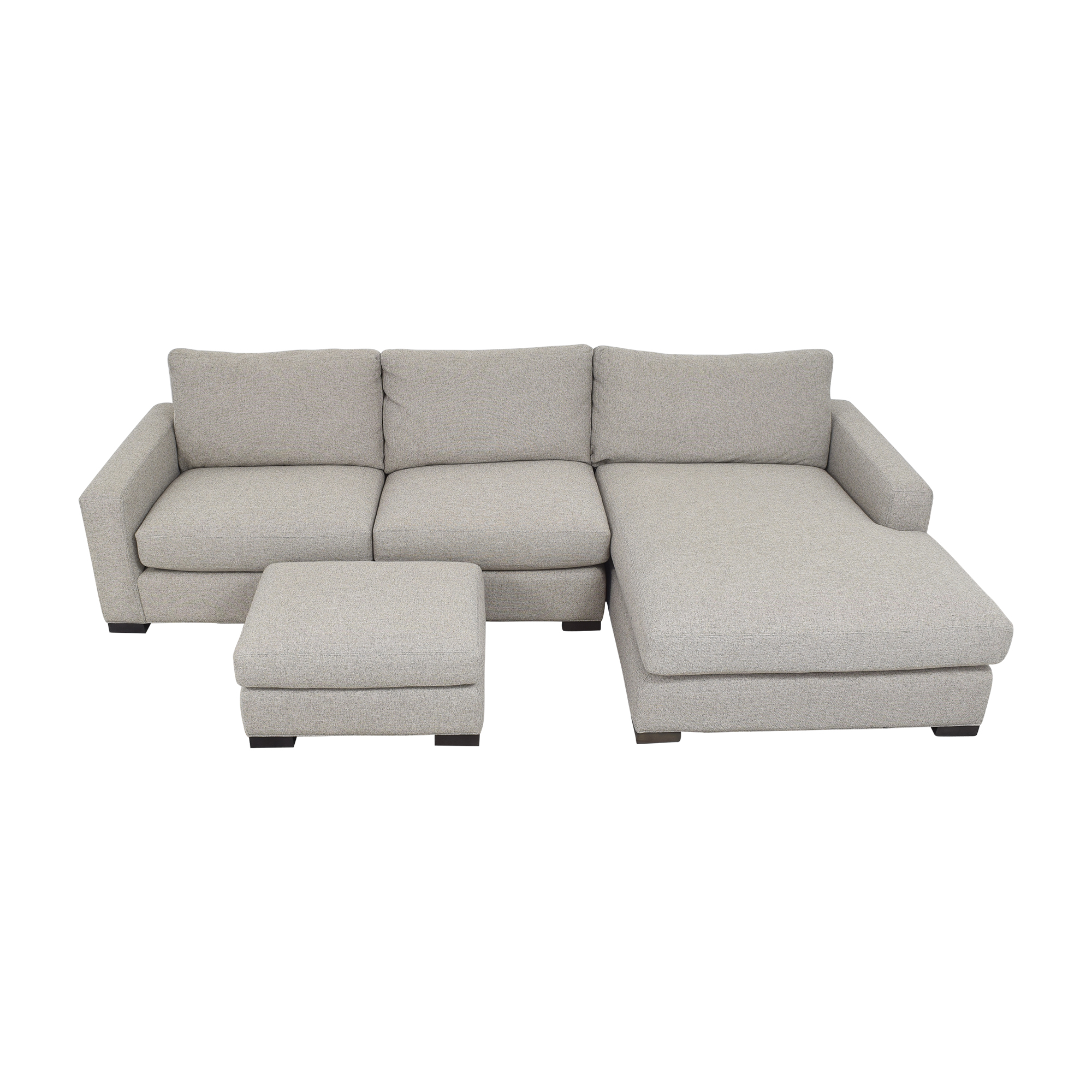 Room & Board Room & Board Metro Chaise Sectional Sofa and Ottoman Sofas
