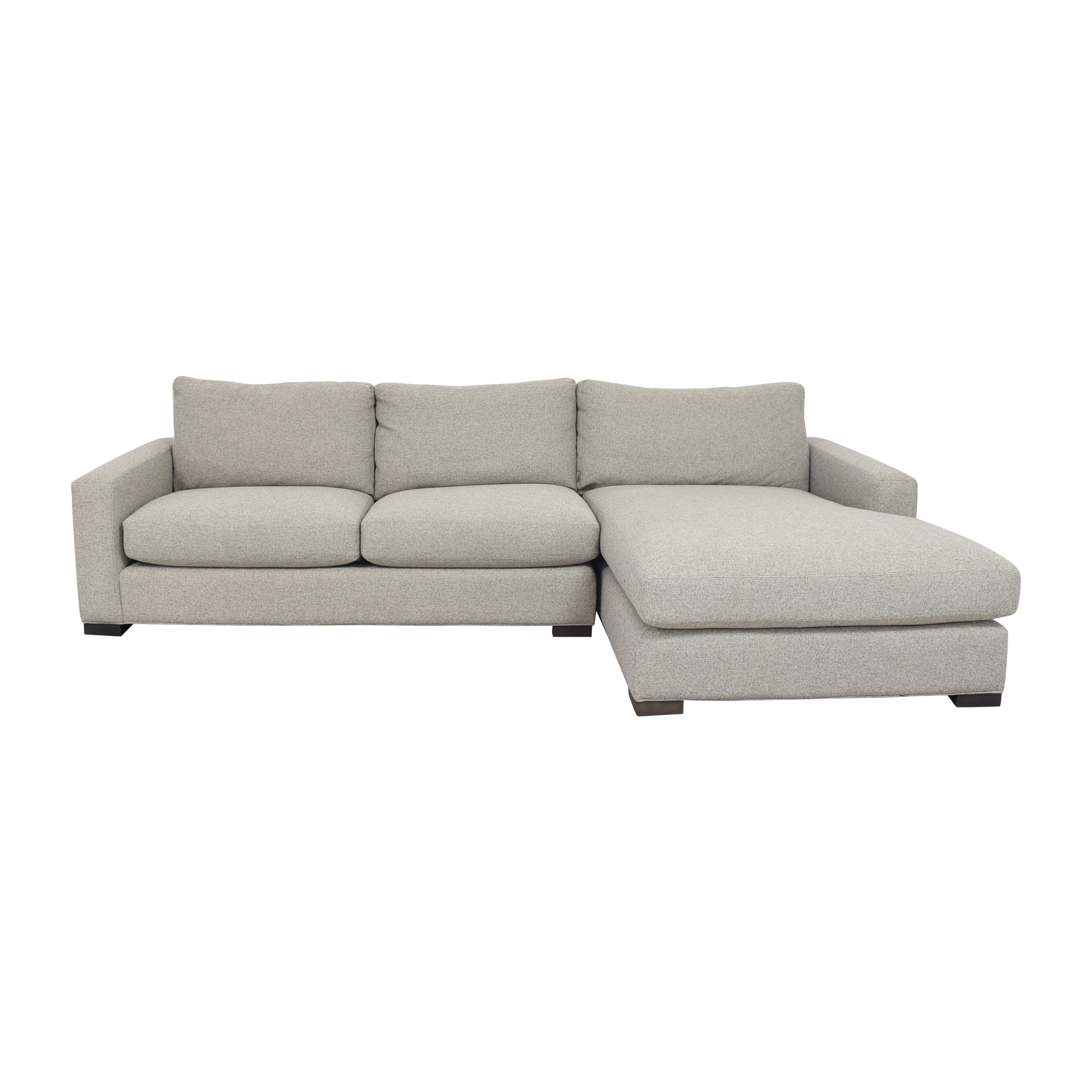 Room & Board Room & Board Metro Chaise Sectional Sofa and Ottoman dimensions