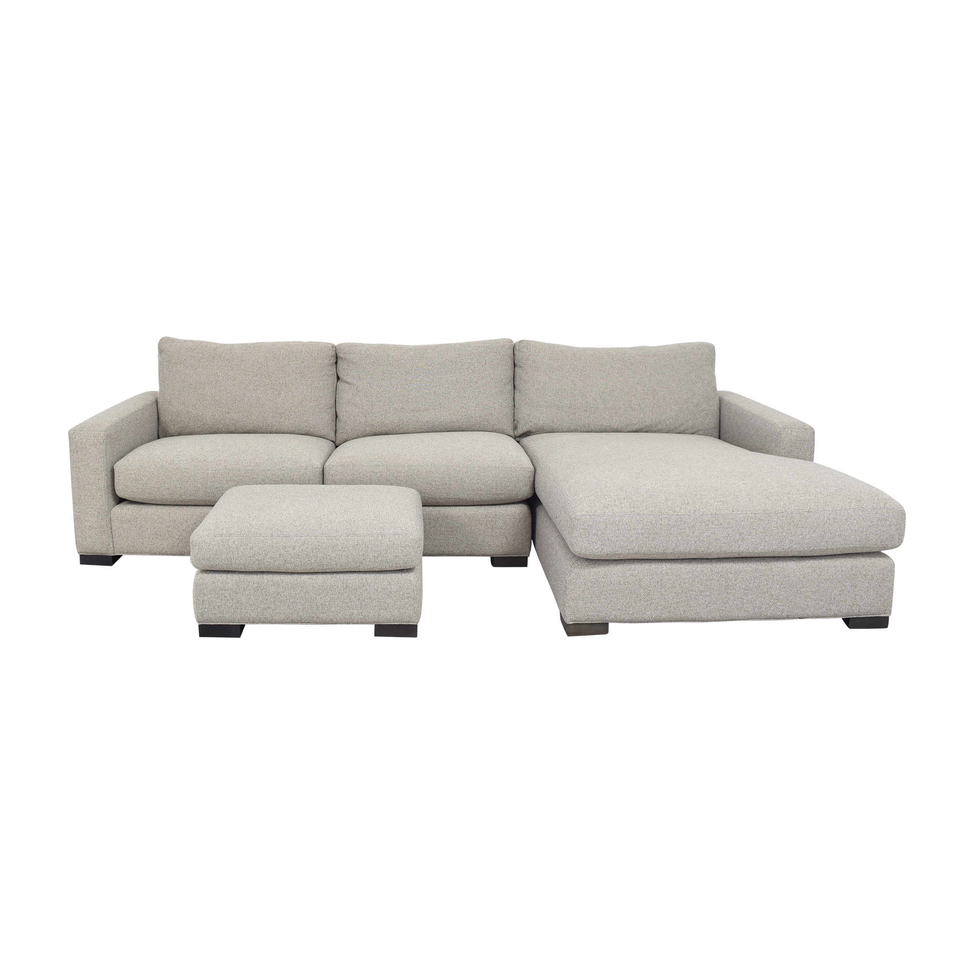 Room & Board Metro Chaise Sectional Sofa and Ottoman Room & Board