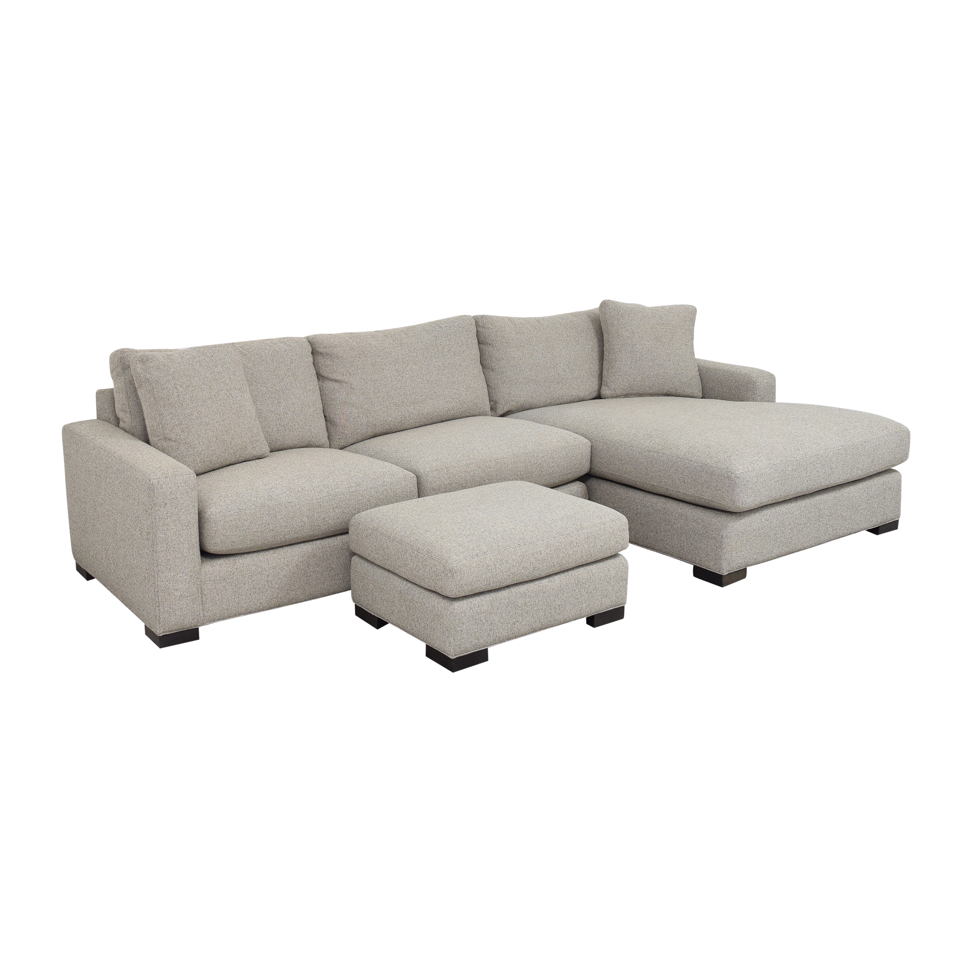 Room & Board Room & Board Metro Chaise Sectional Sofa and Ottoman ma