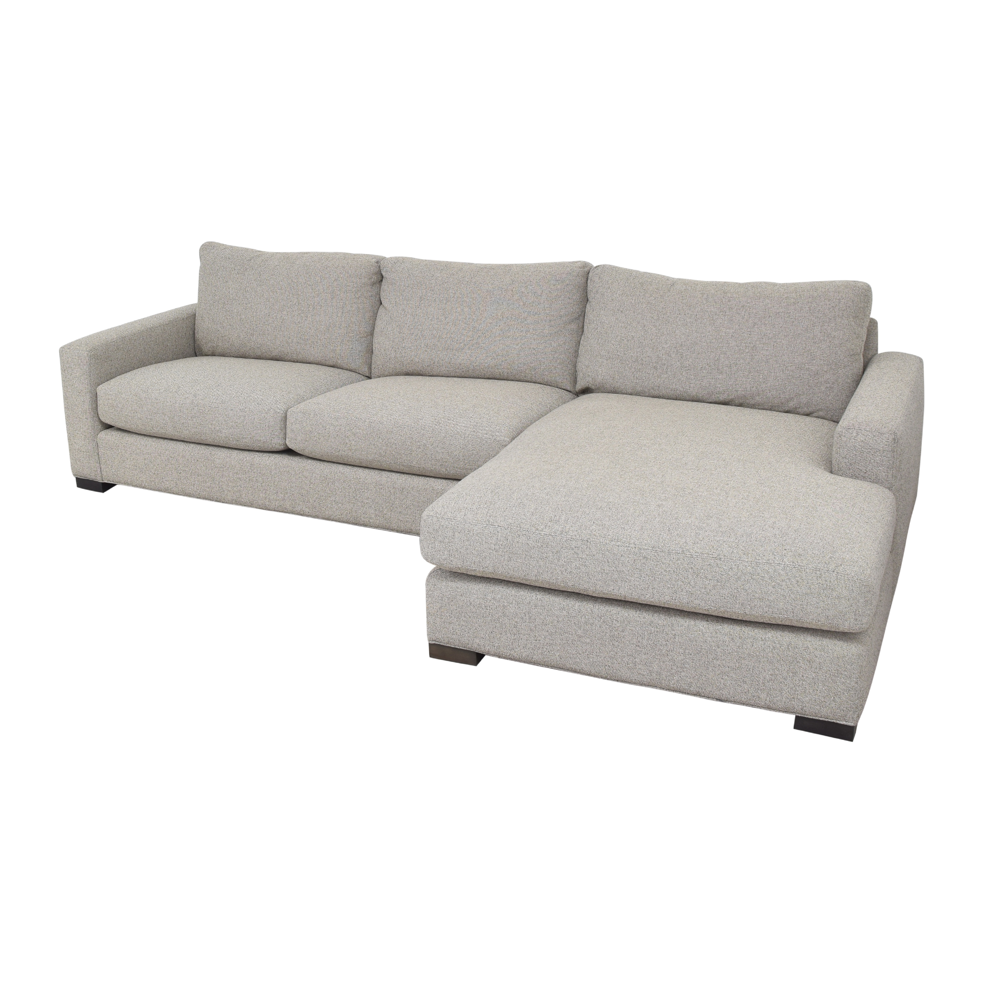 shop Room & Board Metro Chaise Sectional Sofa and Ottoman Room & Board Sectionals