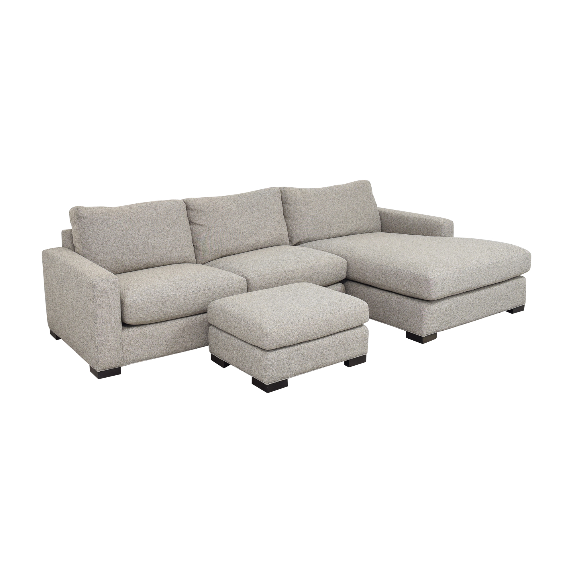 Room & Board Room & Board Metro Chaise Sectional Sofa and Ottoman Sectionals