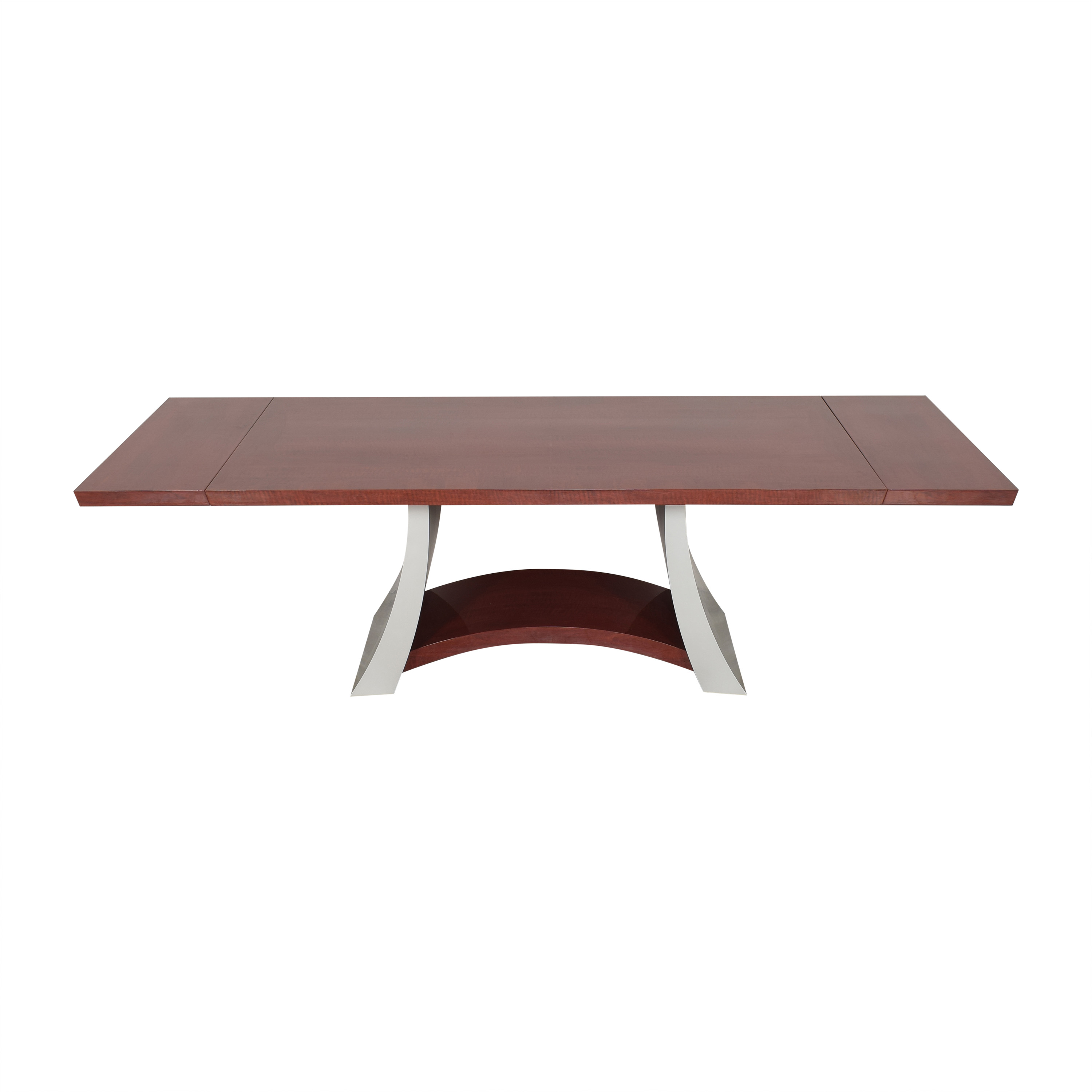 Modern Extendable Dining Table brown & grey