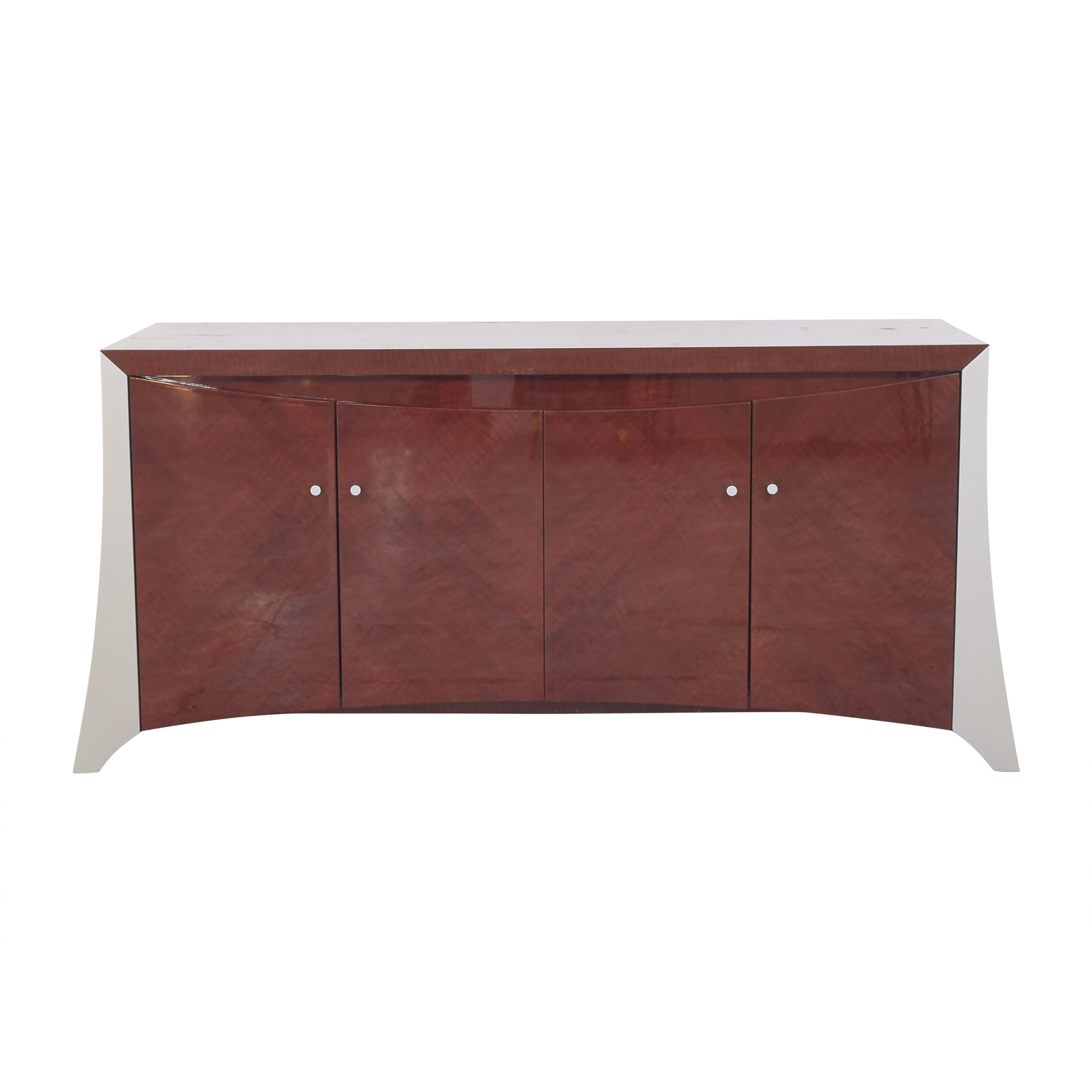 Modern-Style Four Door Credenza dimensions
