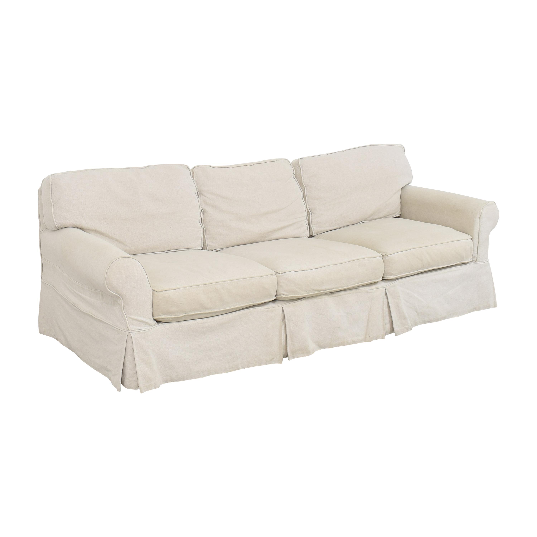 buy Crate & Barrel Crate & Barrel Slipcovered Roll Arm Sofa online