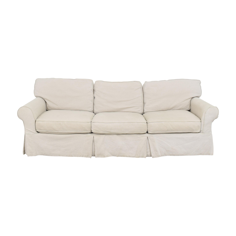 shop Crate & Barrel Crate & Barrel Slipcovered Roll Arm Sofa online