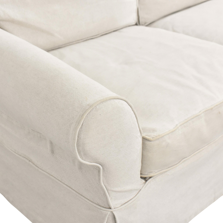 Crate & Barrel Crate & Barrel Slipcovered Roll Arm Sofa