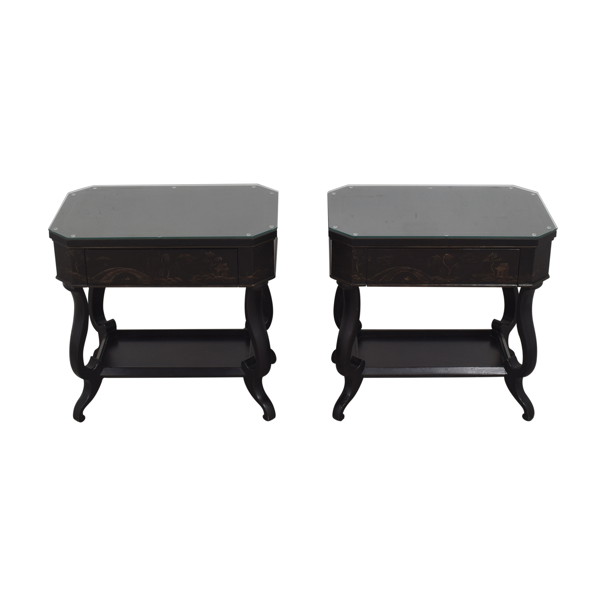 shop Baker Furniture Chinoiserie Historic Charleston Side Tables Baker Furniture Tables