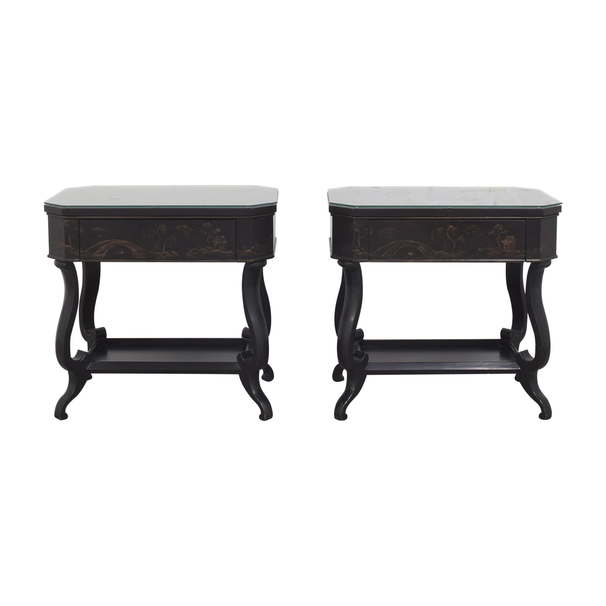 Baker Furniture Baker Furniture Chinoiserie Historic Charleston Side Tables black