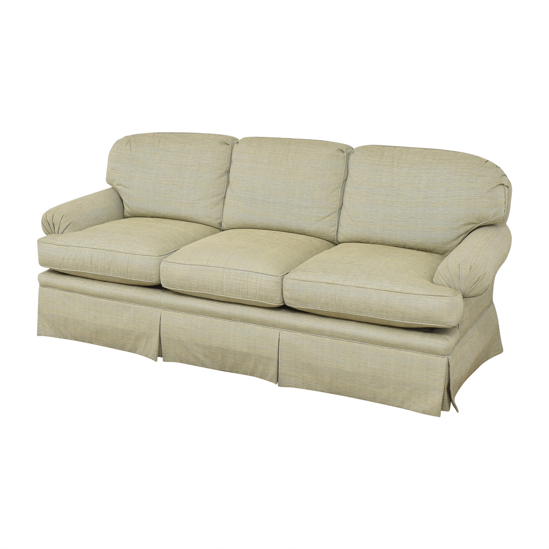 buy Kravet Three Cushion Skirted Sofa Kravet Classic Sofas