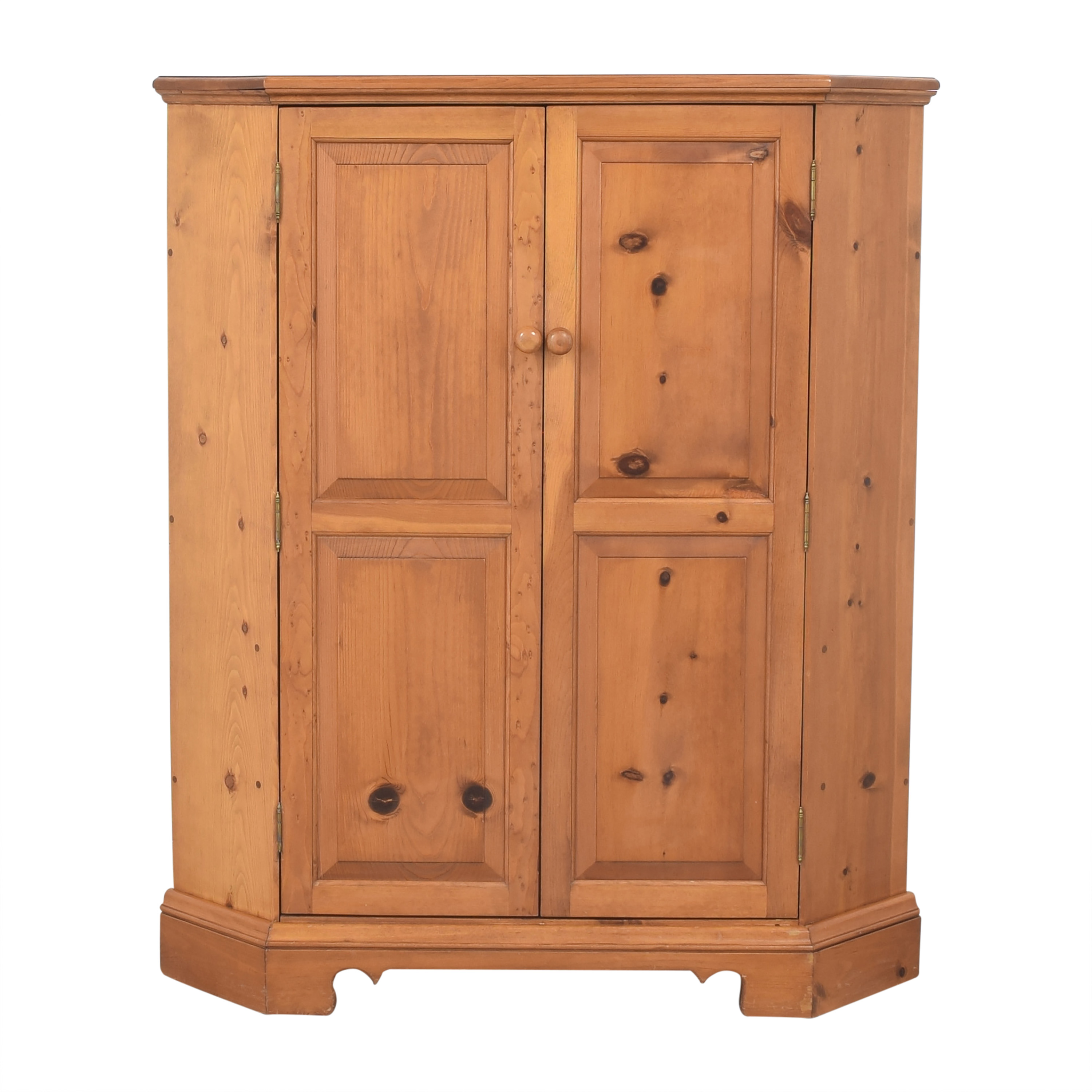 Country-Style Corner Media Cabinet for sale