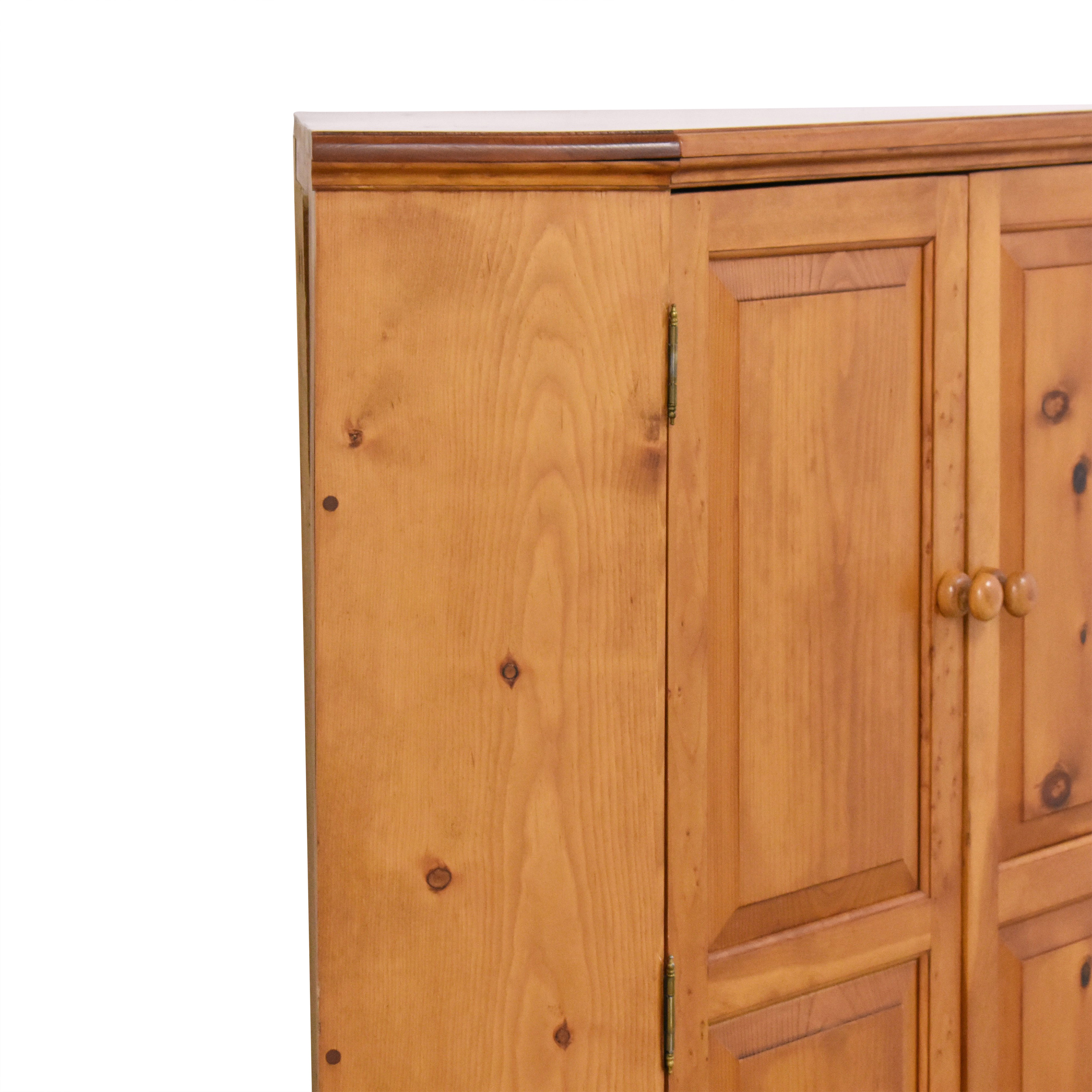 Country-Style Corner Media Cabinet on sale