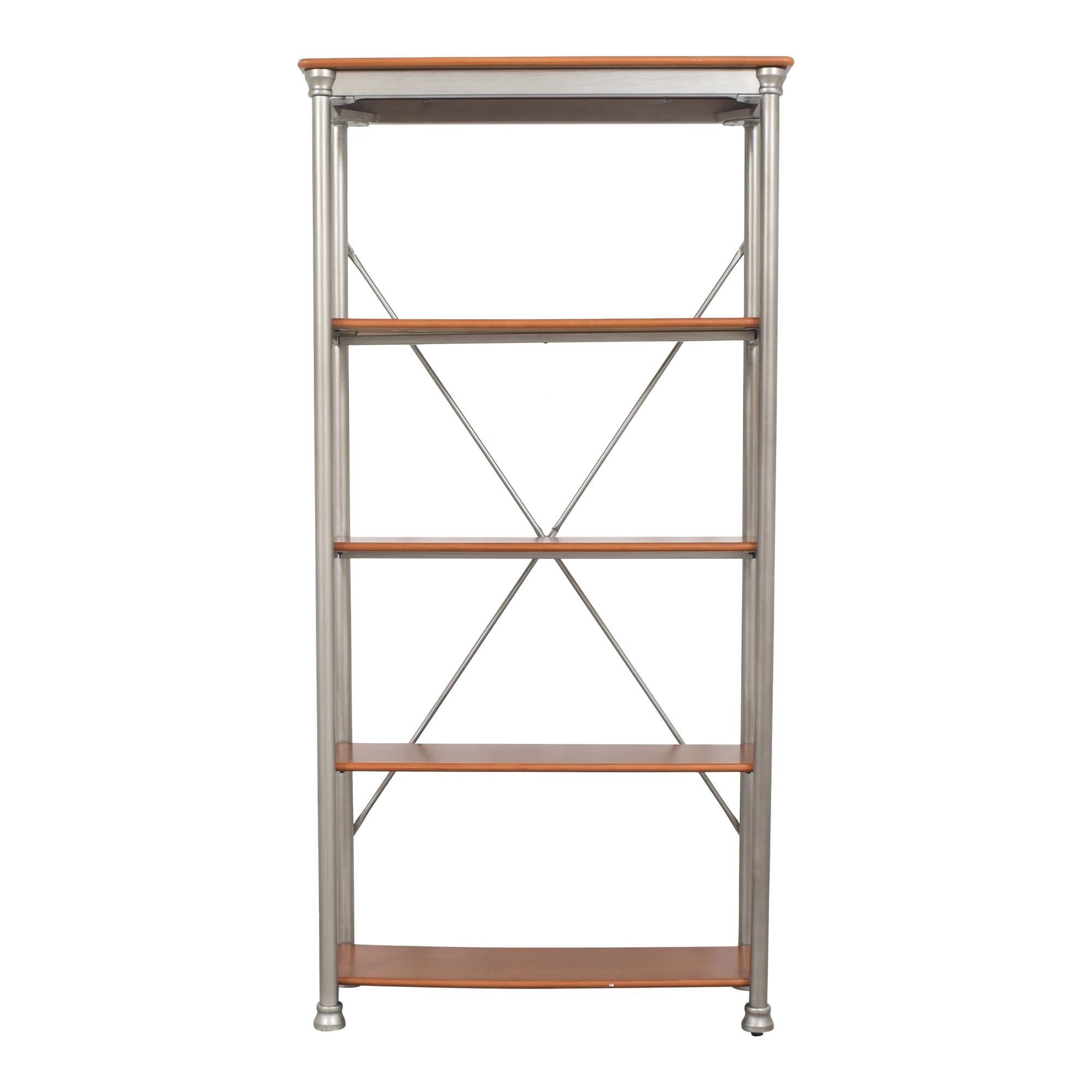 Copper Grove Copper Grove Industrial Bookcase brown & silver