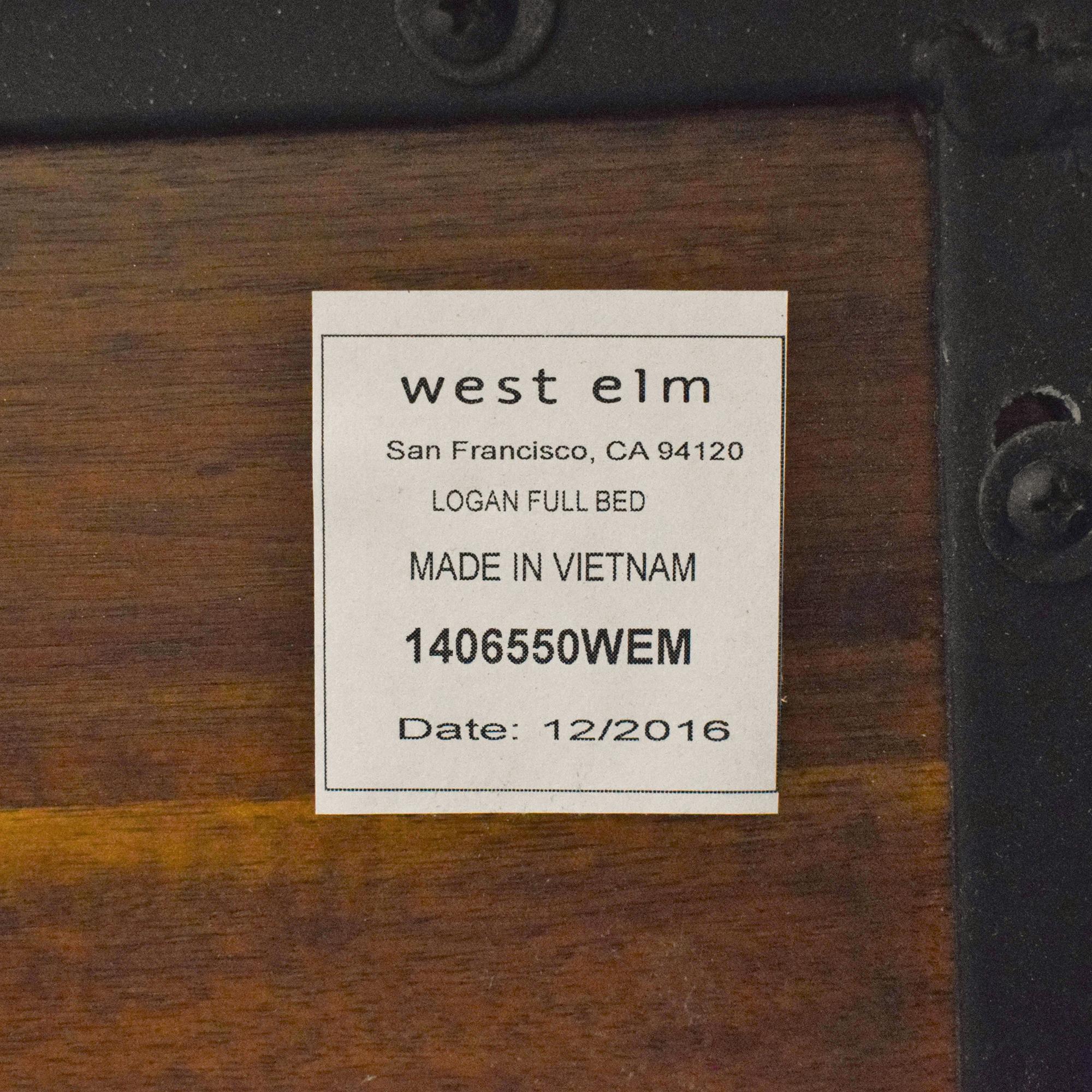 West Elm West Elm Logan Industrial Platform Bed nyc