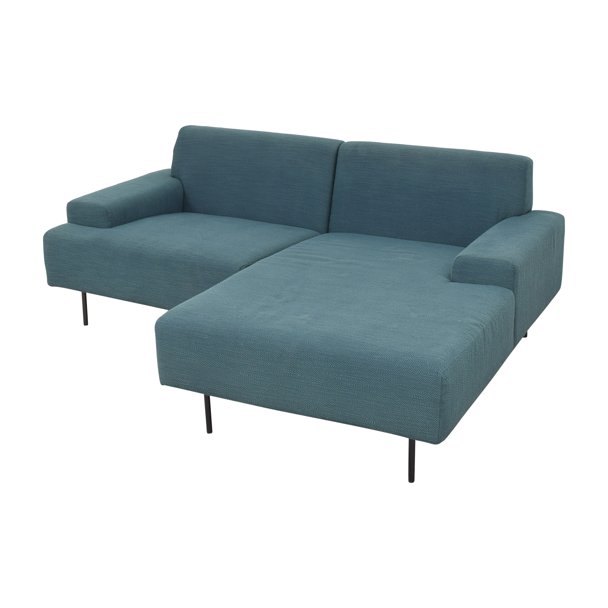 West Elm Beckham Two Piece Chaise Sectional Sofa West Elm