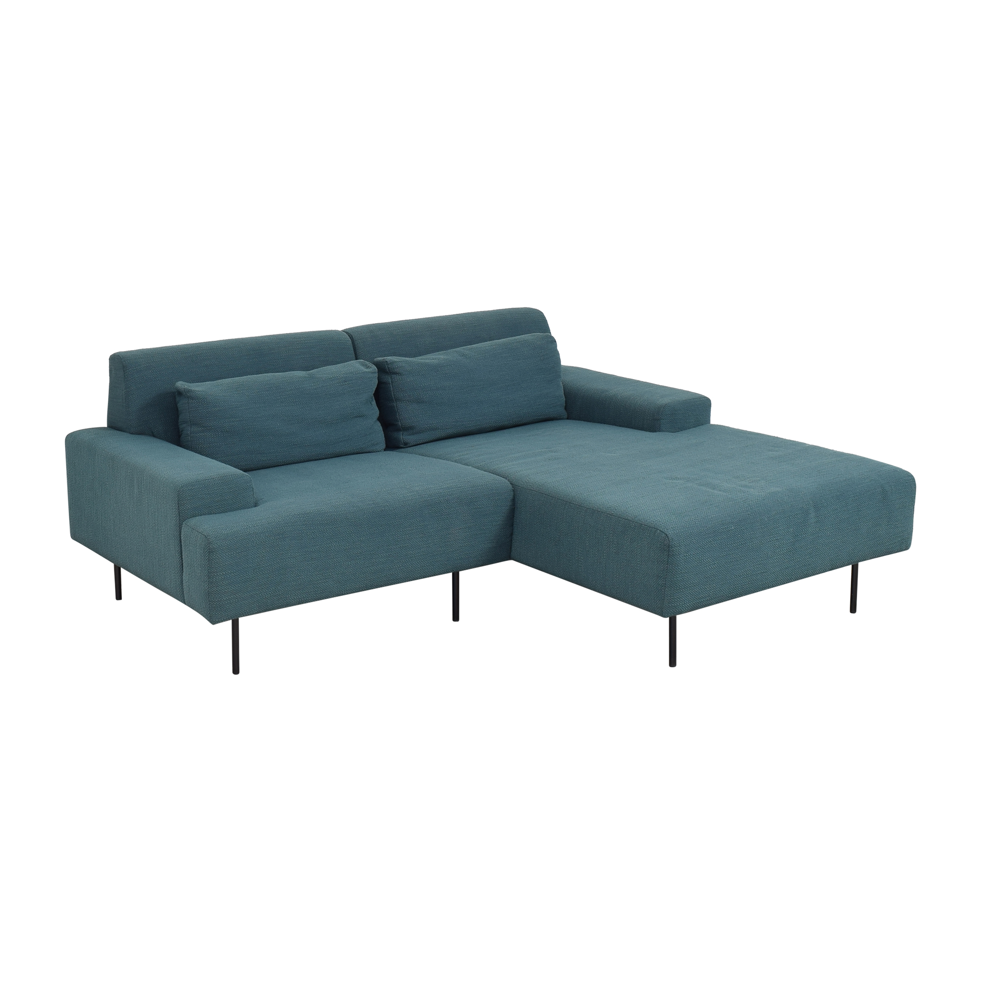 buy West Elm West Elm Beckham Two Piece Chaise Sectional Sofa online