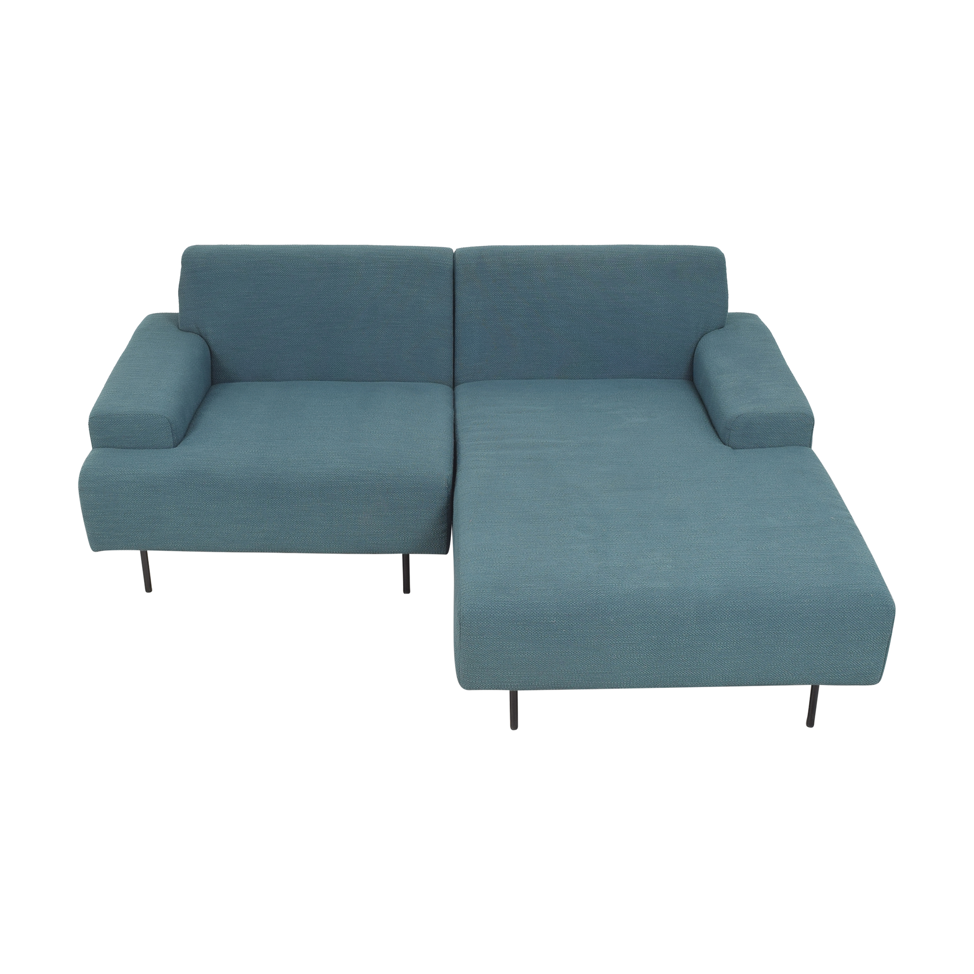 West Elm West Elm Beckham Two Piece Chaise Sectional Sofa for sale