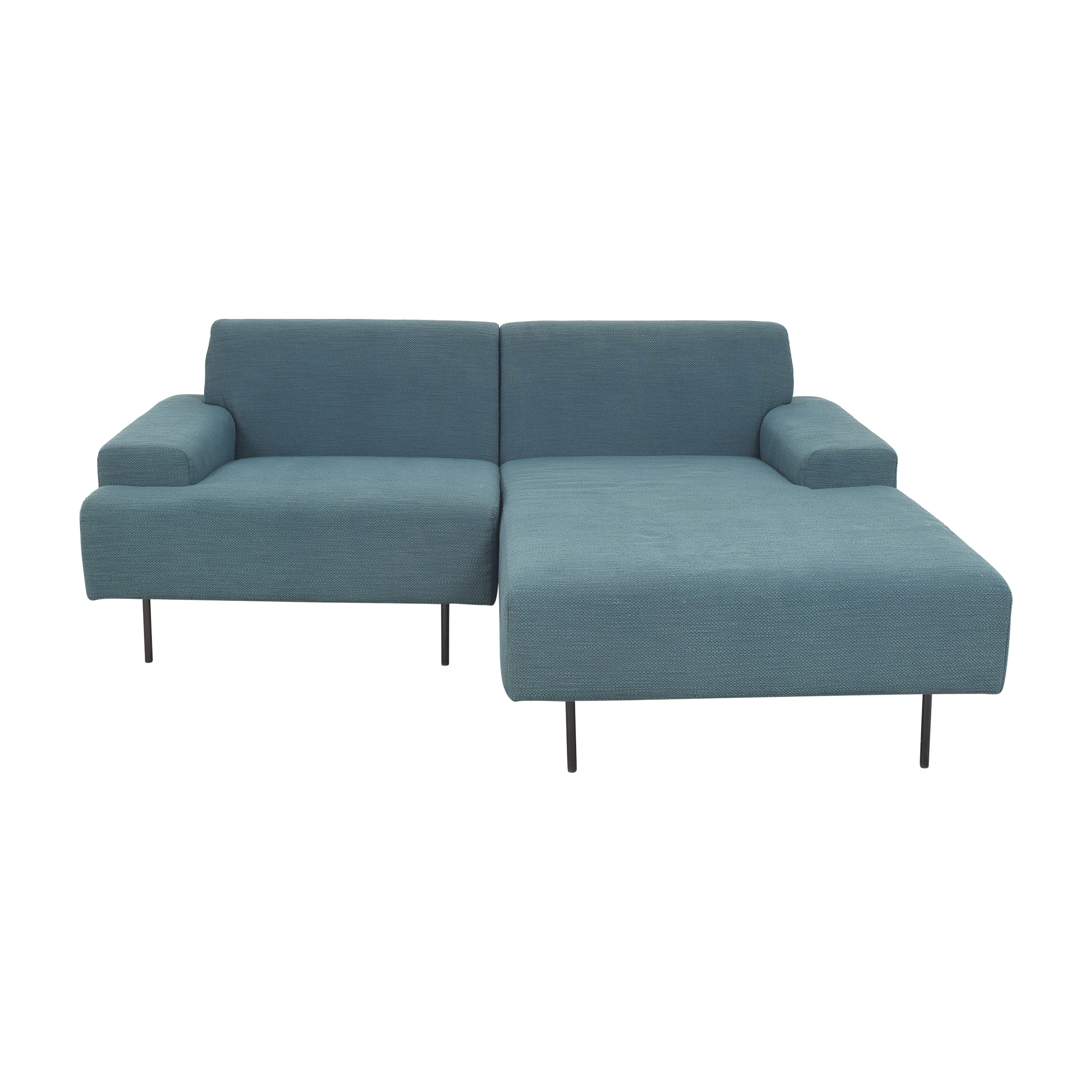 West Elm Beckham Two Piece Chaise Sectional Sofa / Sectionals