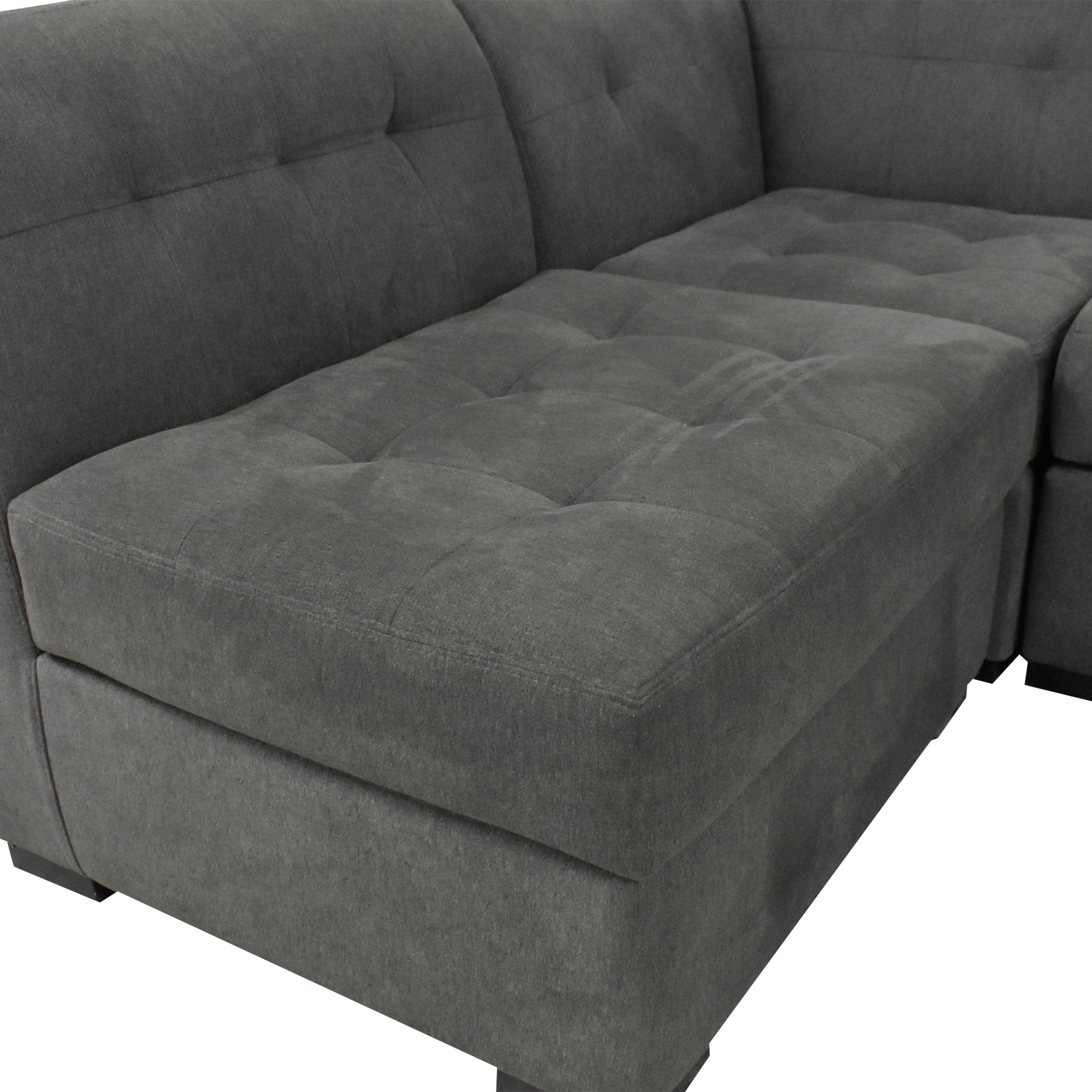 Macy's Macy's Tufted Sectional Sofa and Ottoman used