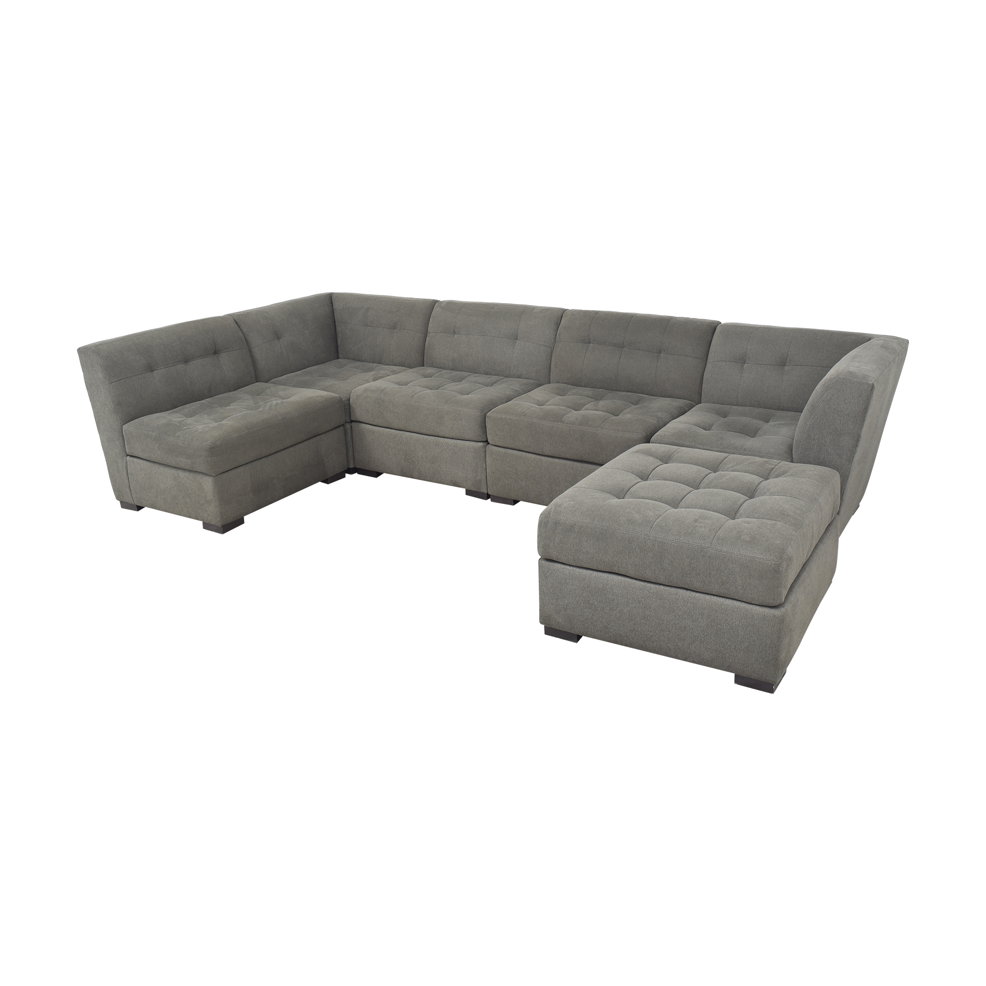 Macy's Macy's Tufted Sectional Sofa and Ottoman Sofas