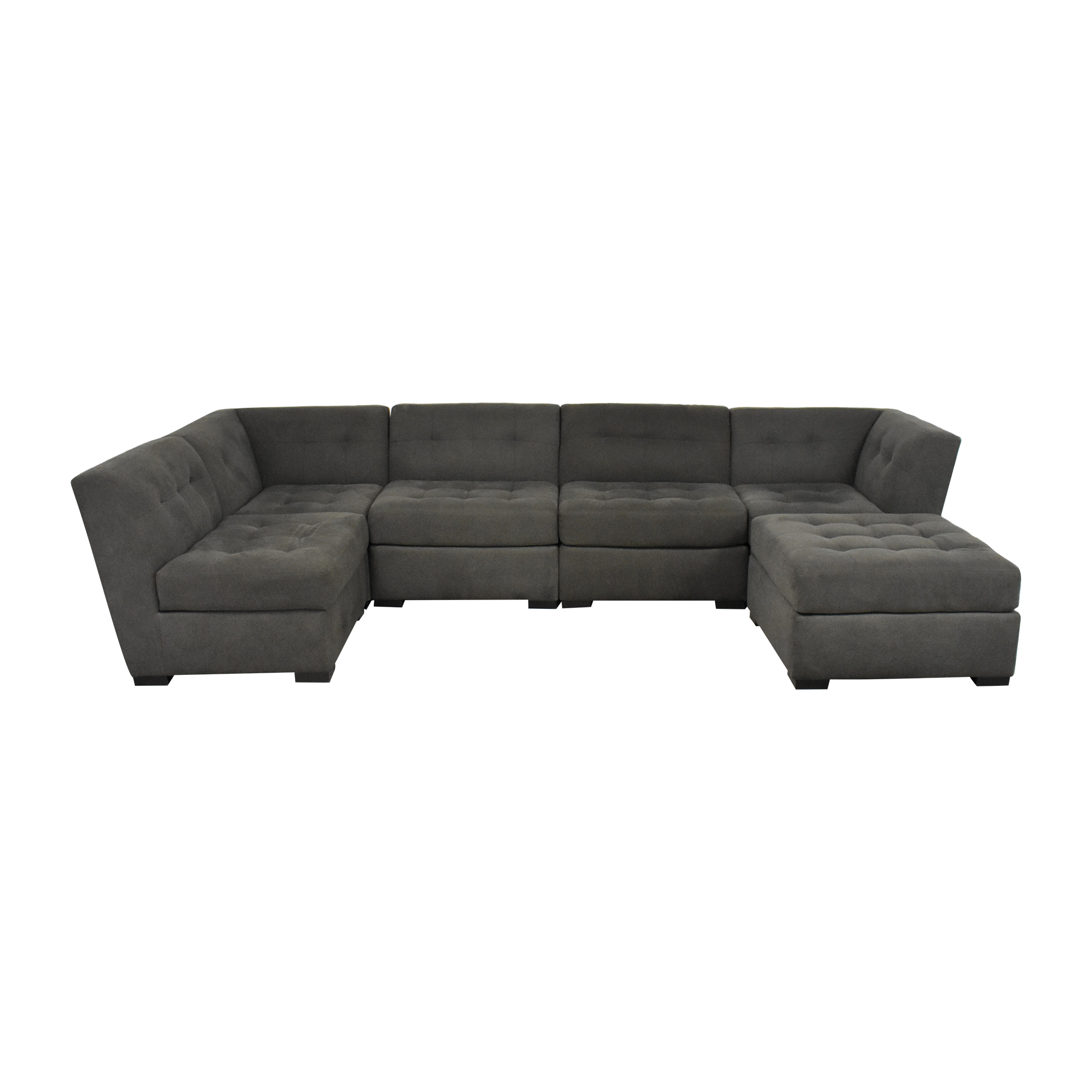 buy Macy's Macy's Tufted Sectional Sofa and Ottoman online