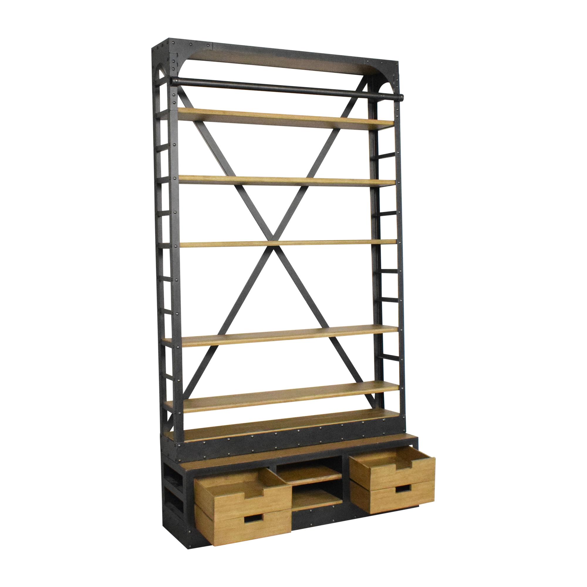 buy Restoration Hardware 1950s Dutch Shipyard Triple Shelving Restoration Hardware Bookcases & Shelving