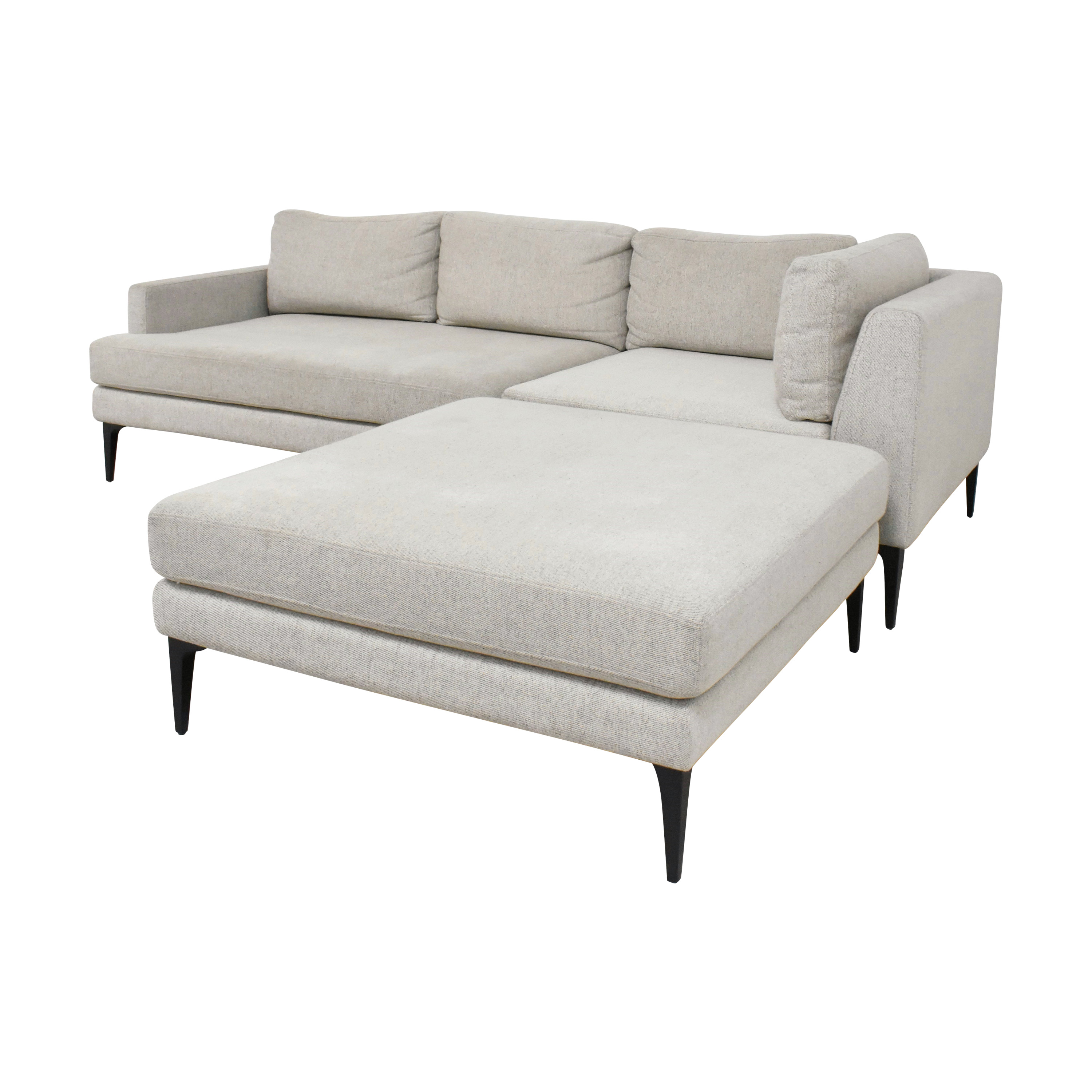 West Elm West Elm Andes Three Piece Chaise Sectional Sofa second hand