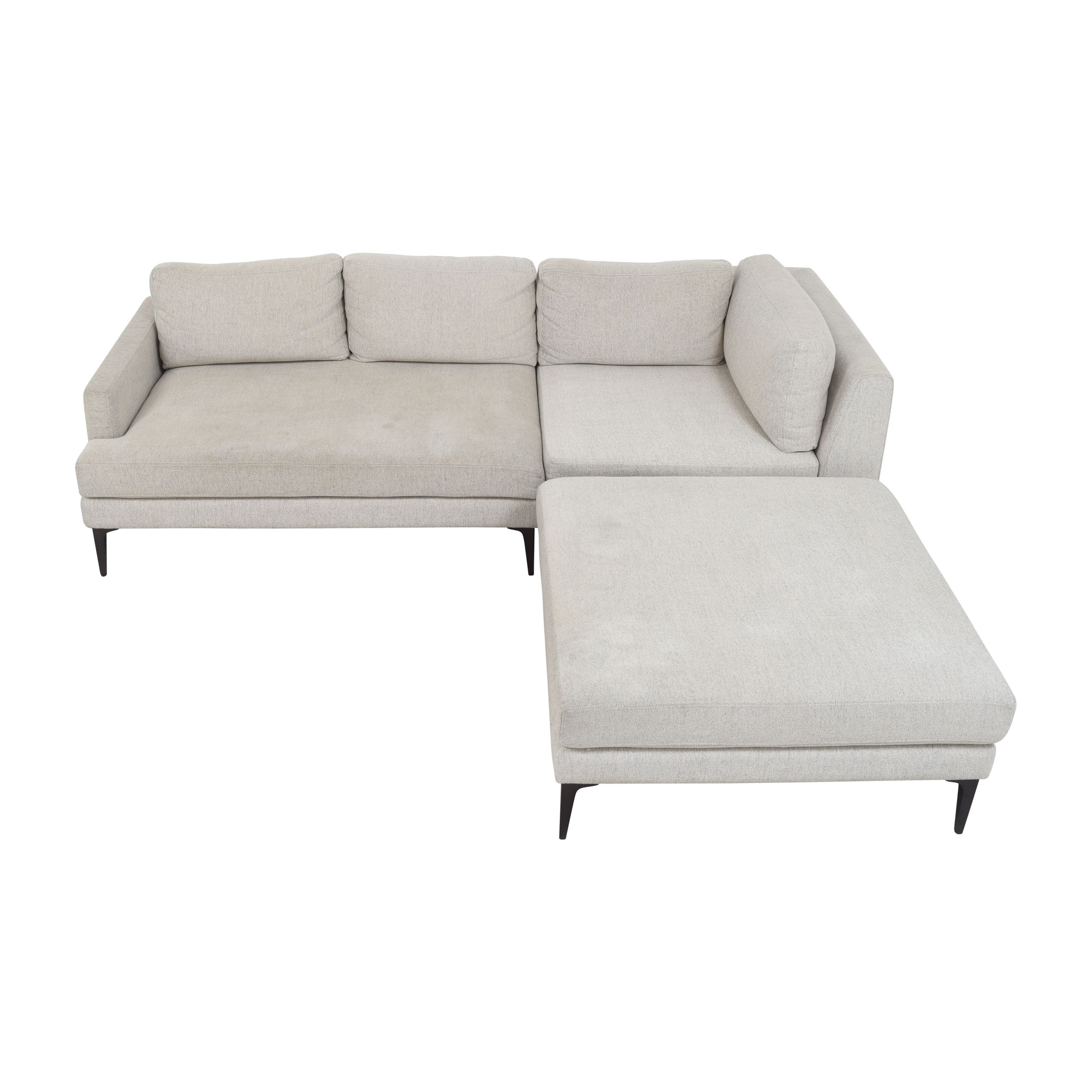 West Elm West Elm Andes Three Piece Chaise Sectional Sofa price